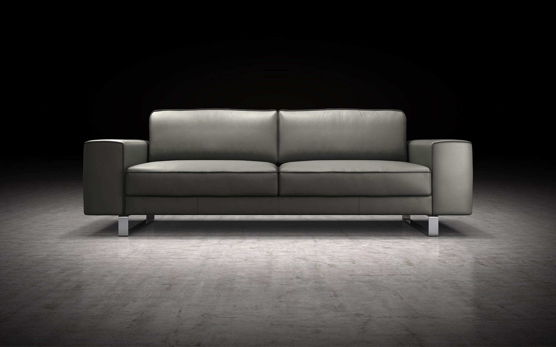Waverly Sofa Warm Gray With Graphite By Modloft