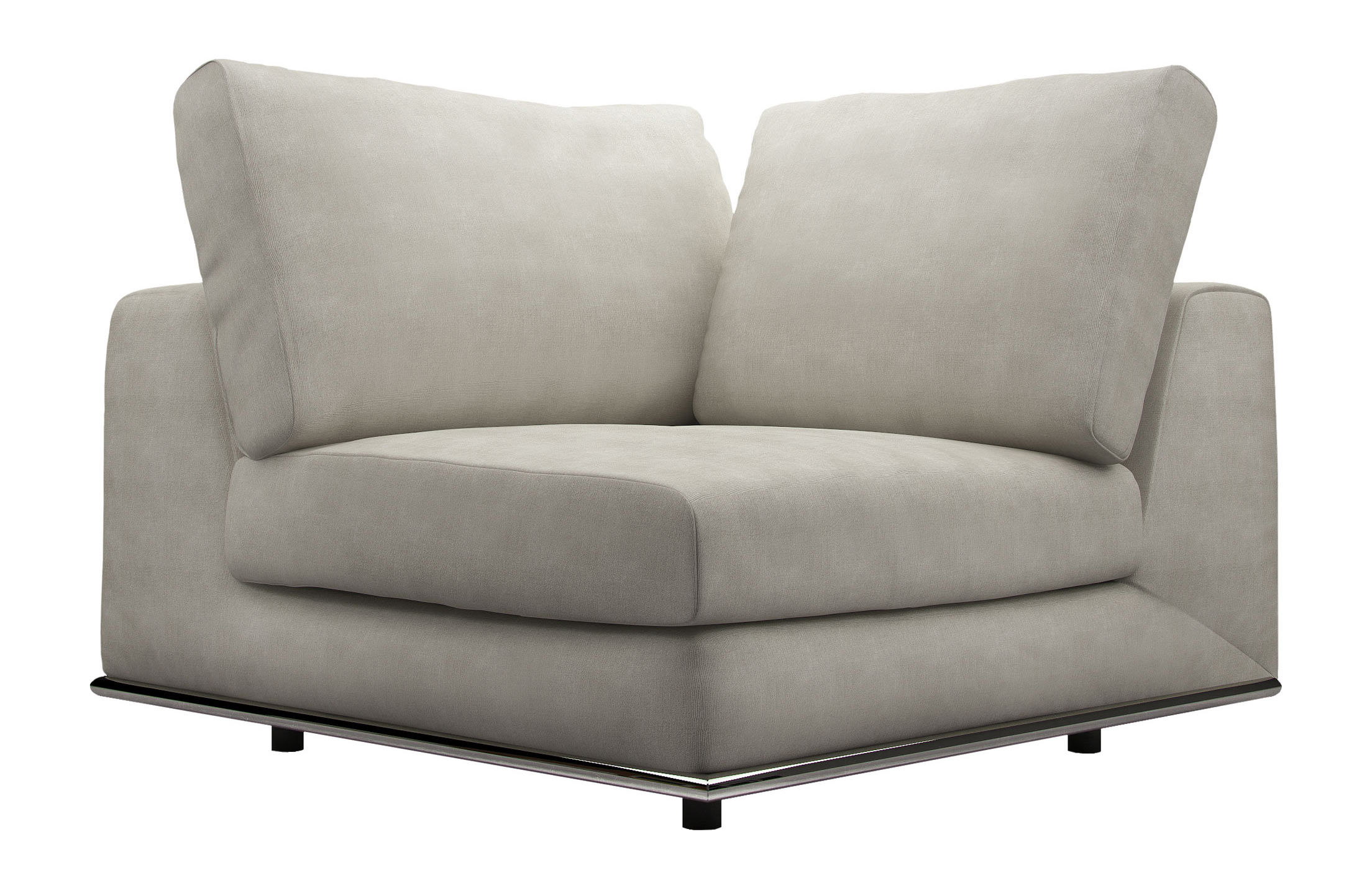 Cool Perry Modular Corner Chair Moonbeam By Modloft Pabps2019 Chair Design Images Pabps2019Com