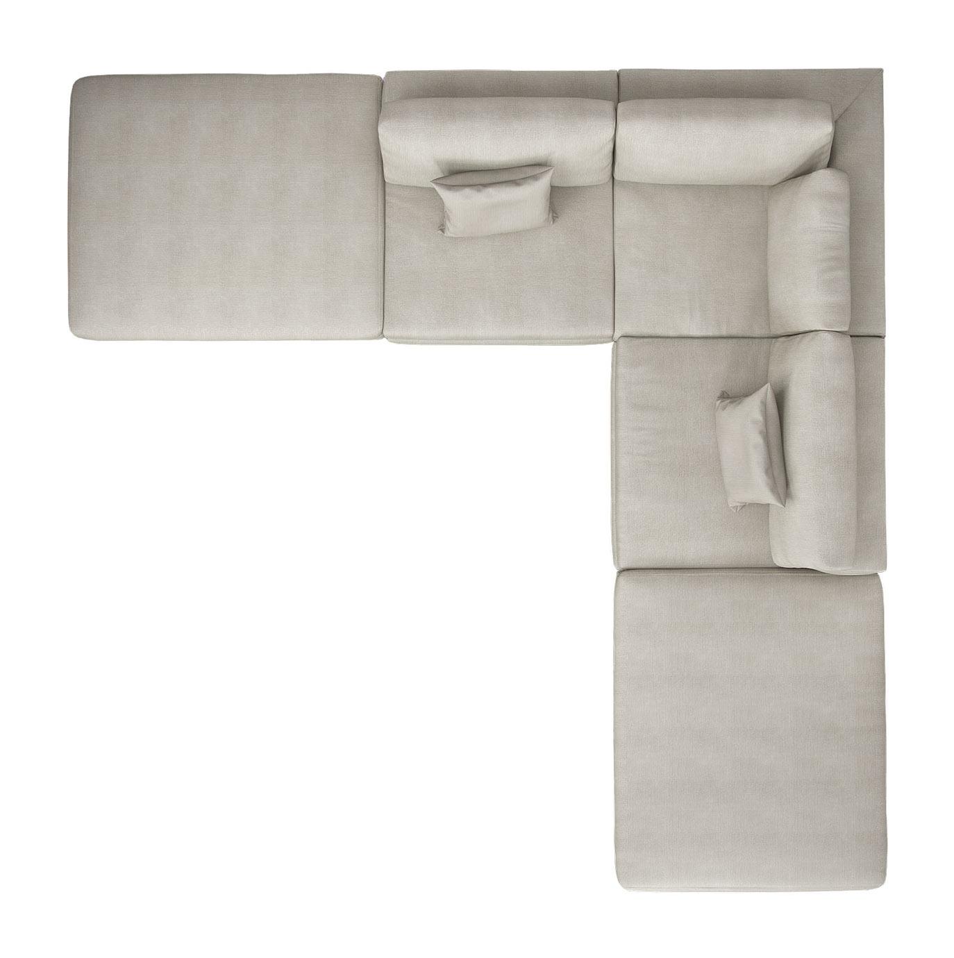 perry armless corner sectional sofa moonbeam by modloft -