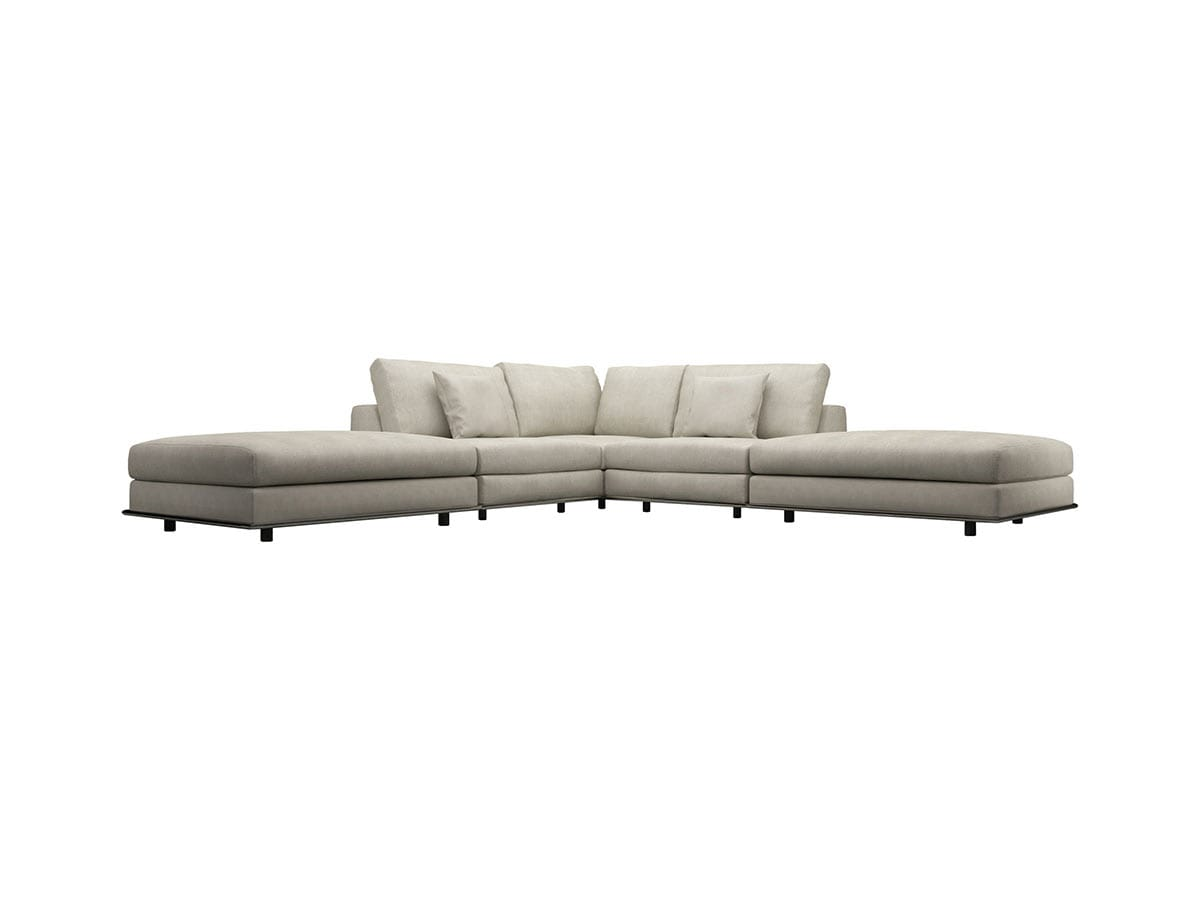 Corner Sectional Sofa Verano Cream Canvas