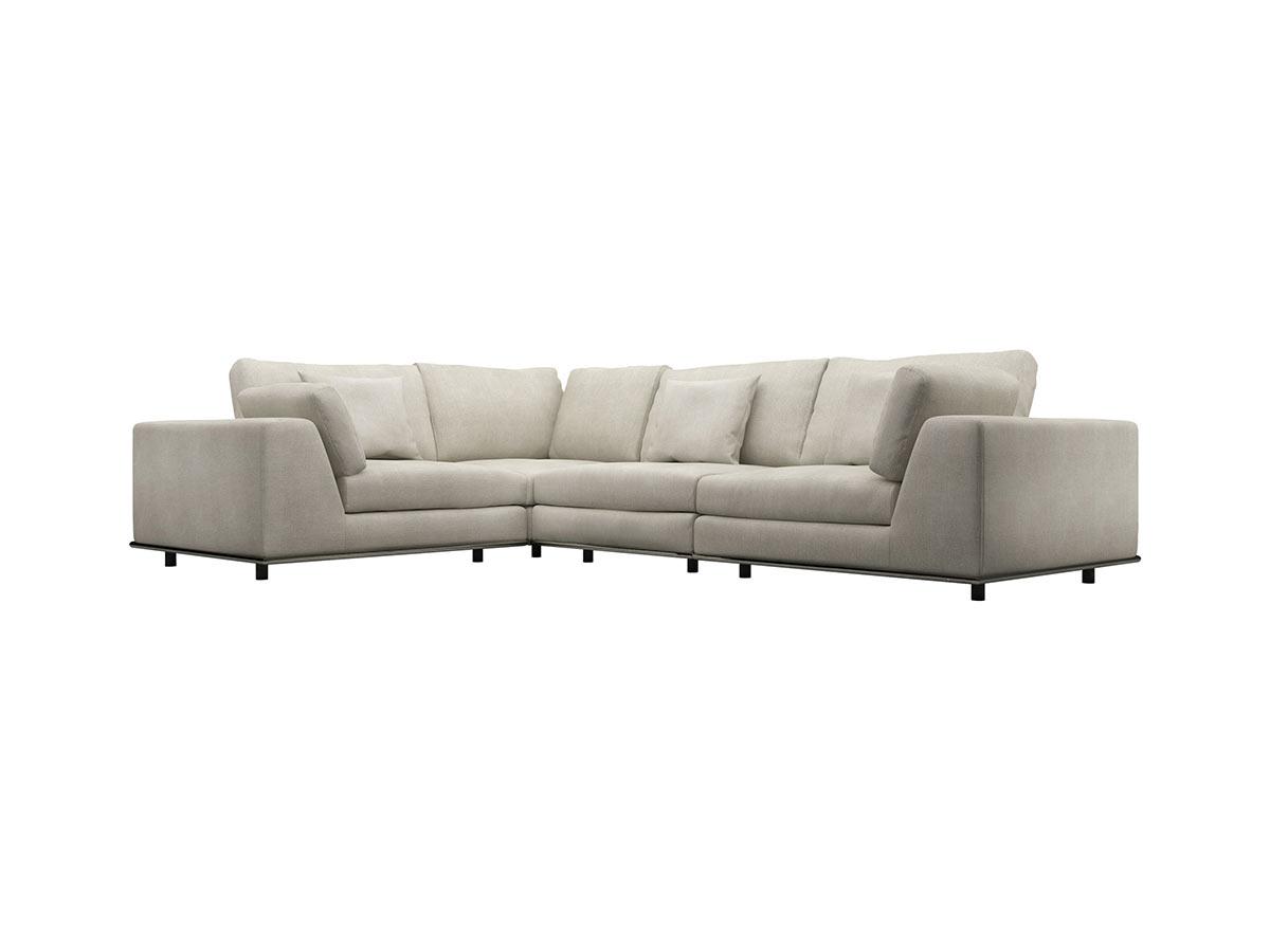 Perry L Sectional Sofa Moonbeam by Modloft