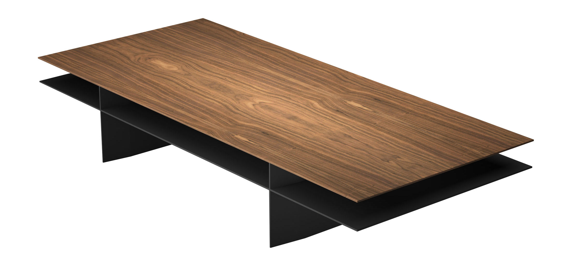 Kensington Coffee Table Walnut on Graphite by Modloft
