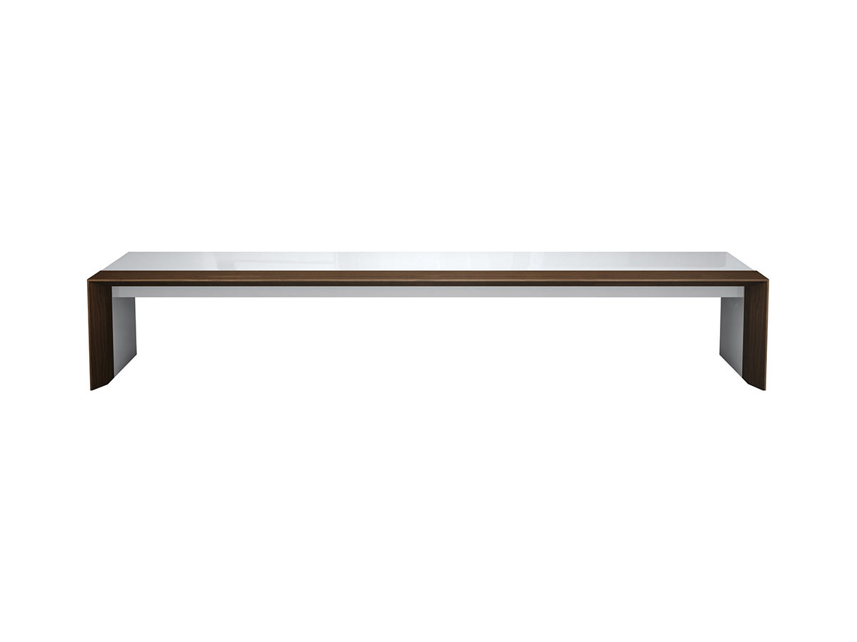 Beckenham coffee table white lacquer and walnut by modloft geotapseo Gallery