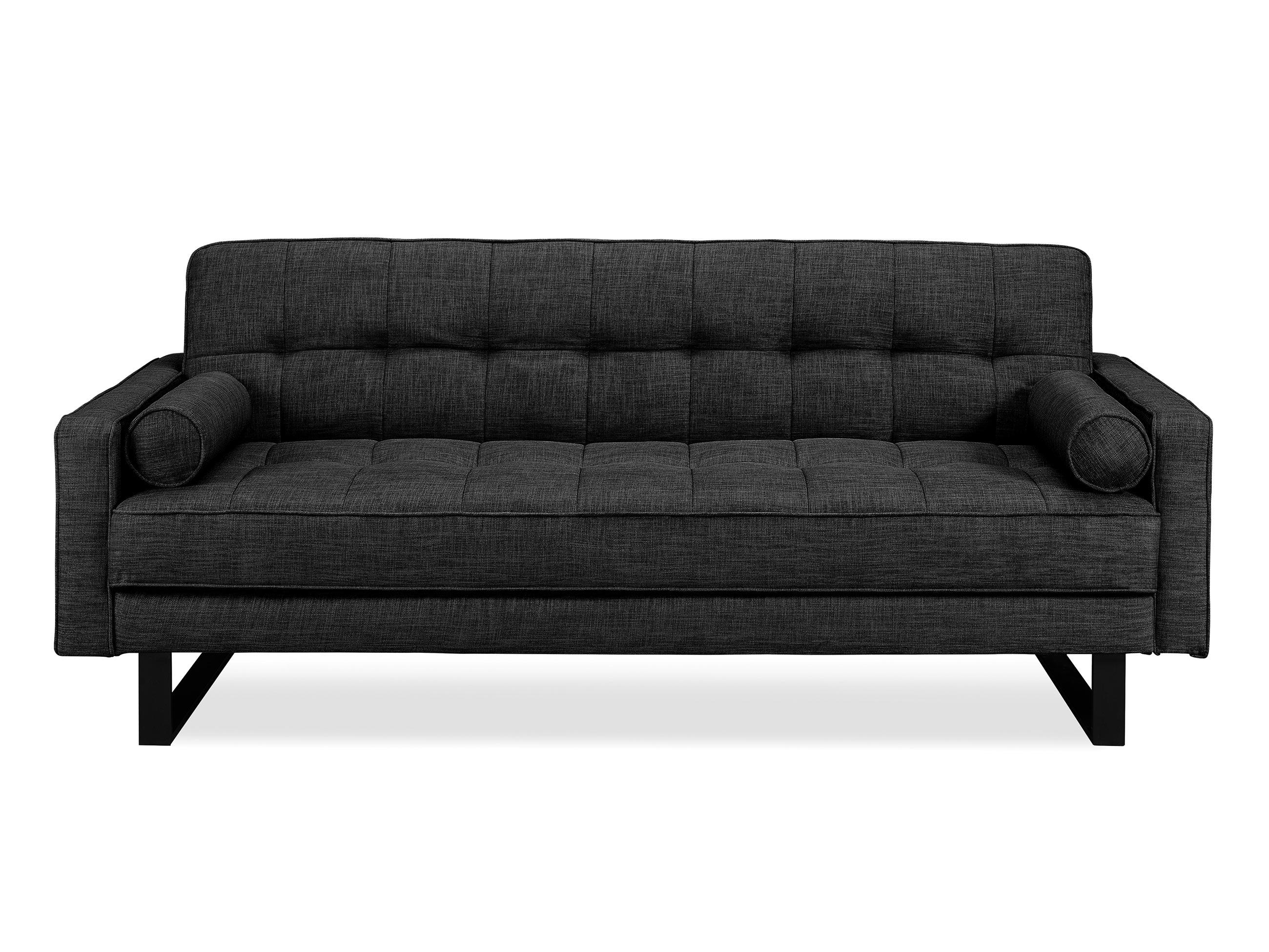 Medina Convertible Sofa Charcoal Grey by Serta Lifestyle