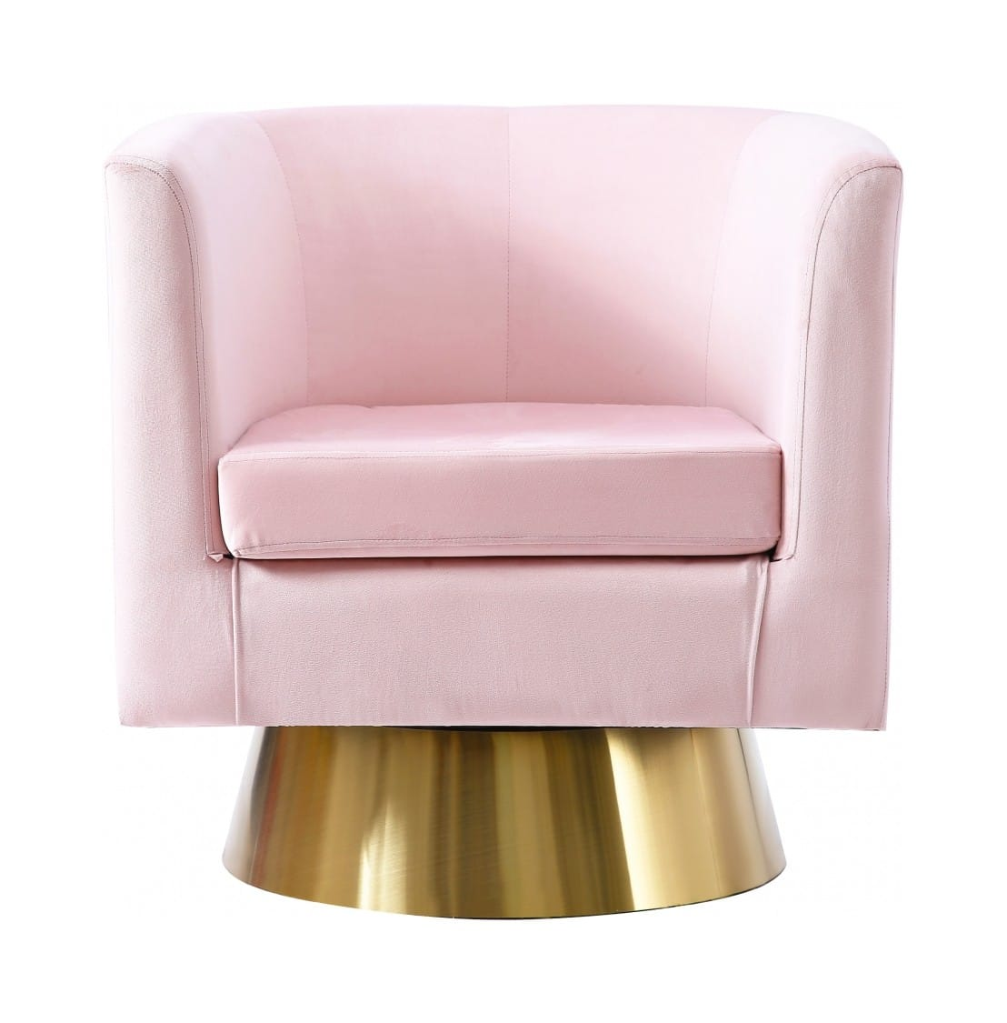 Superb Bellagio Pink Velvet Swivel Accent Chair By Meridian Furniture Dailytribune Chair Design For Home Dailytribuneorg
