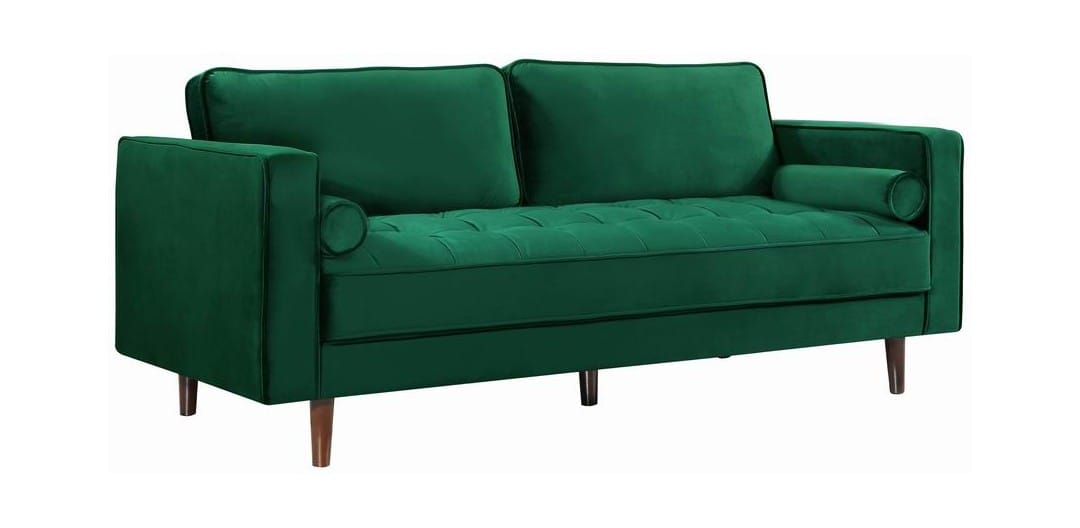 Awesome Emily Green Velvet Sofa By Meridian Furniture Cjindustries Chair Design For Home Cjindustriesco