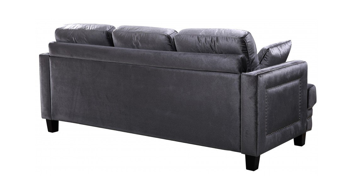 Ferrara Grey Velvet Sofa by Meridian Furniture