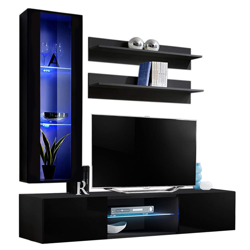 Fly H33 Tv Wall Mounted Floating H2 Modern Entertainment Center By Meble Furniture
