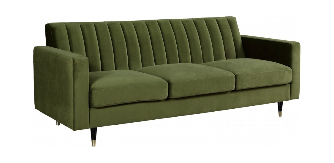 Brilliant Lola Olive Velvet Sofa By Meridian Furniture Caraccident5 Cool Chair Designs And Ideas Caraccident5Info