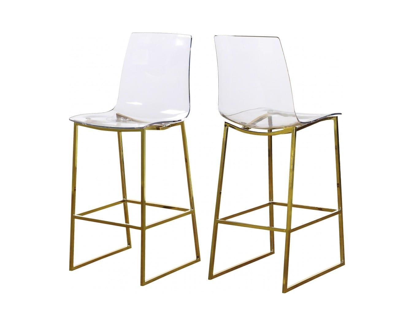Incredible Lumen Gold Counter Stool Set Of 2 By Meridian Furniture Inzonedesignstudio Interior Chair Design Inzonedesignstudiocom