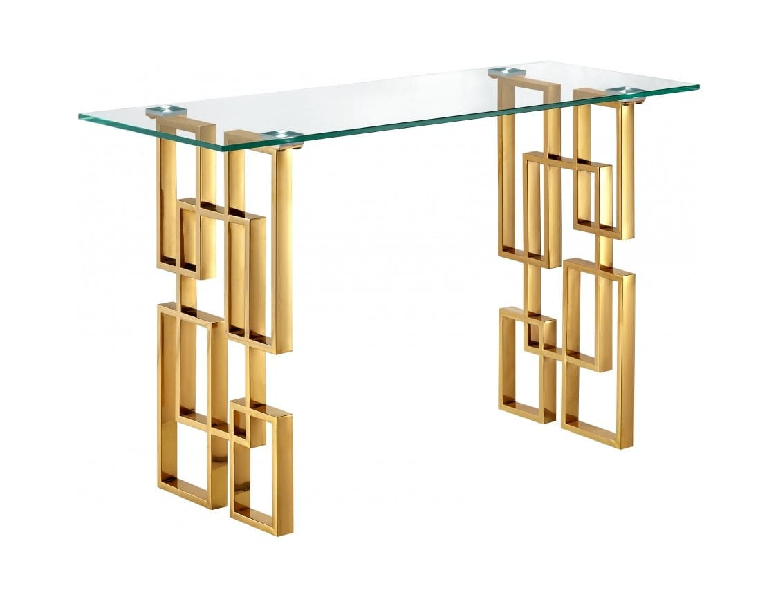 Pierre Gold Top Gl Console Table By Meridian Furniture