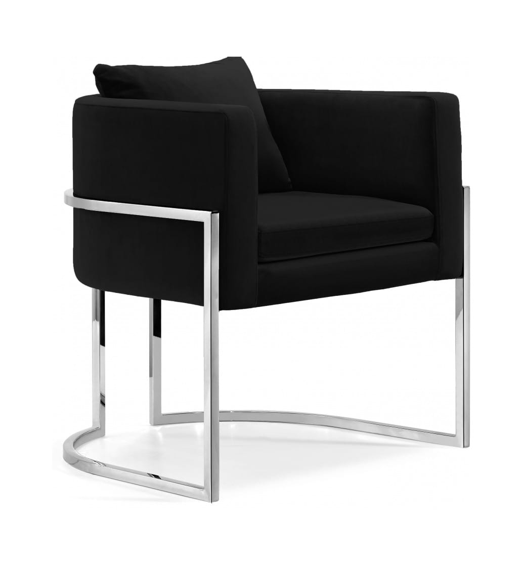 Pippa Black Velvet Accent Chair by Meridian Furniture