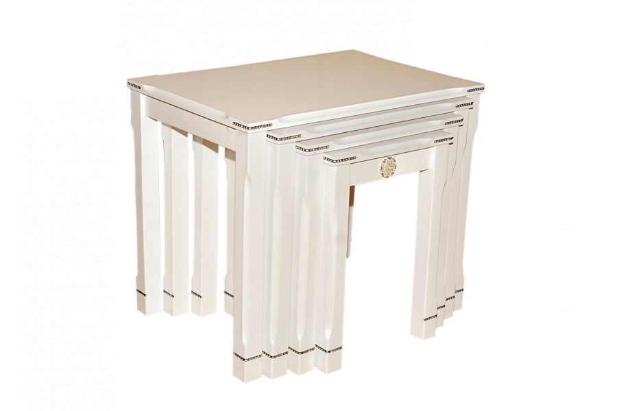 Mf106 White Glossy Coffee Table By Istikbal Furniture