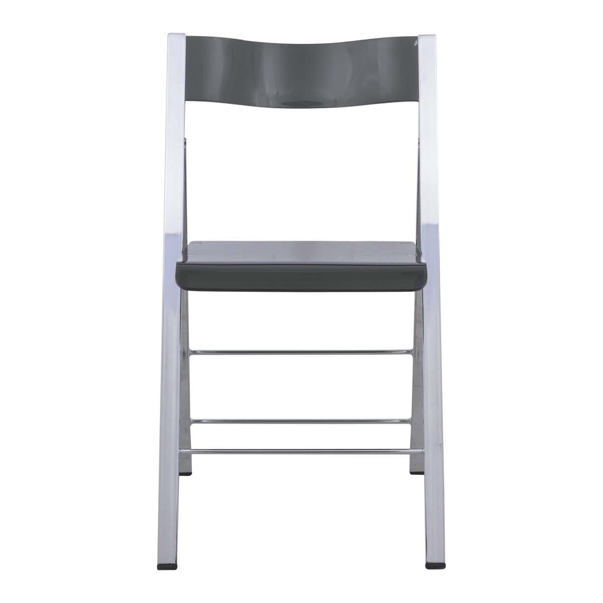 Remarkable Menno Modern Transparent Black Acrylic Folding Chair Set Of 4 By Leisuremod Customarchery Wood Chair Design Ideas Customarcherynet