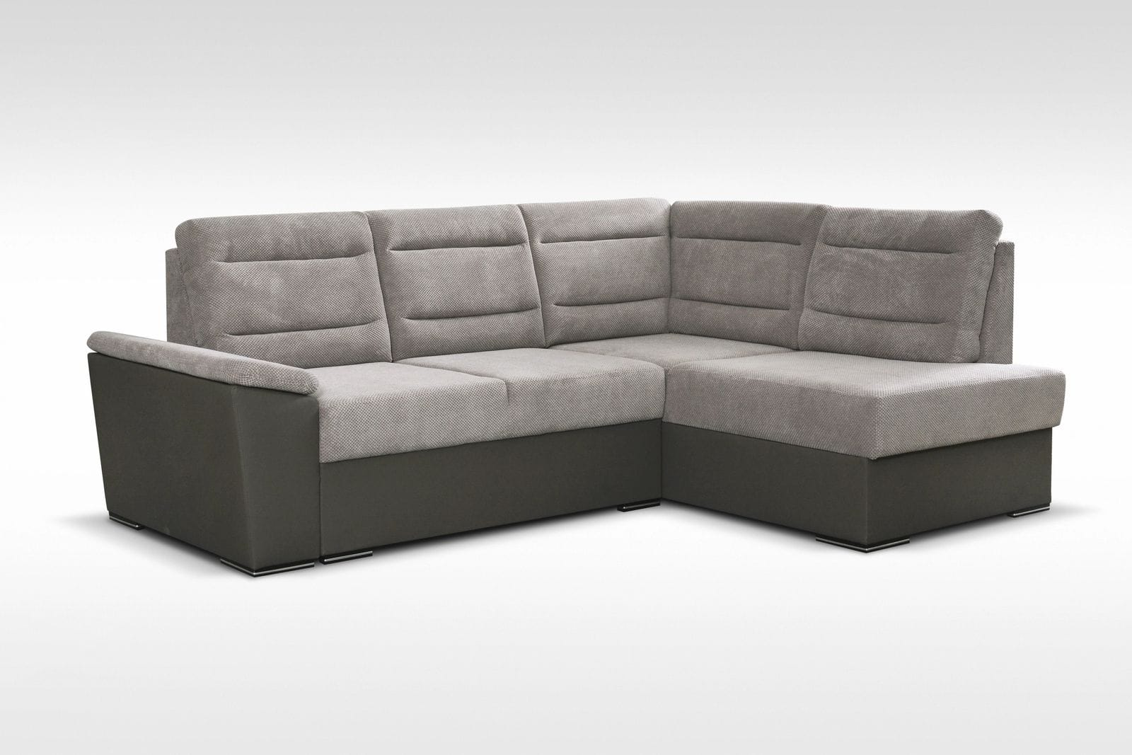 Minos Gray Sectional Sofa by Skyler Designs