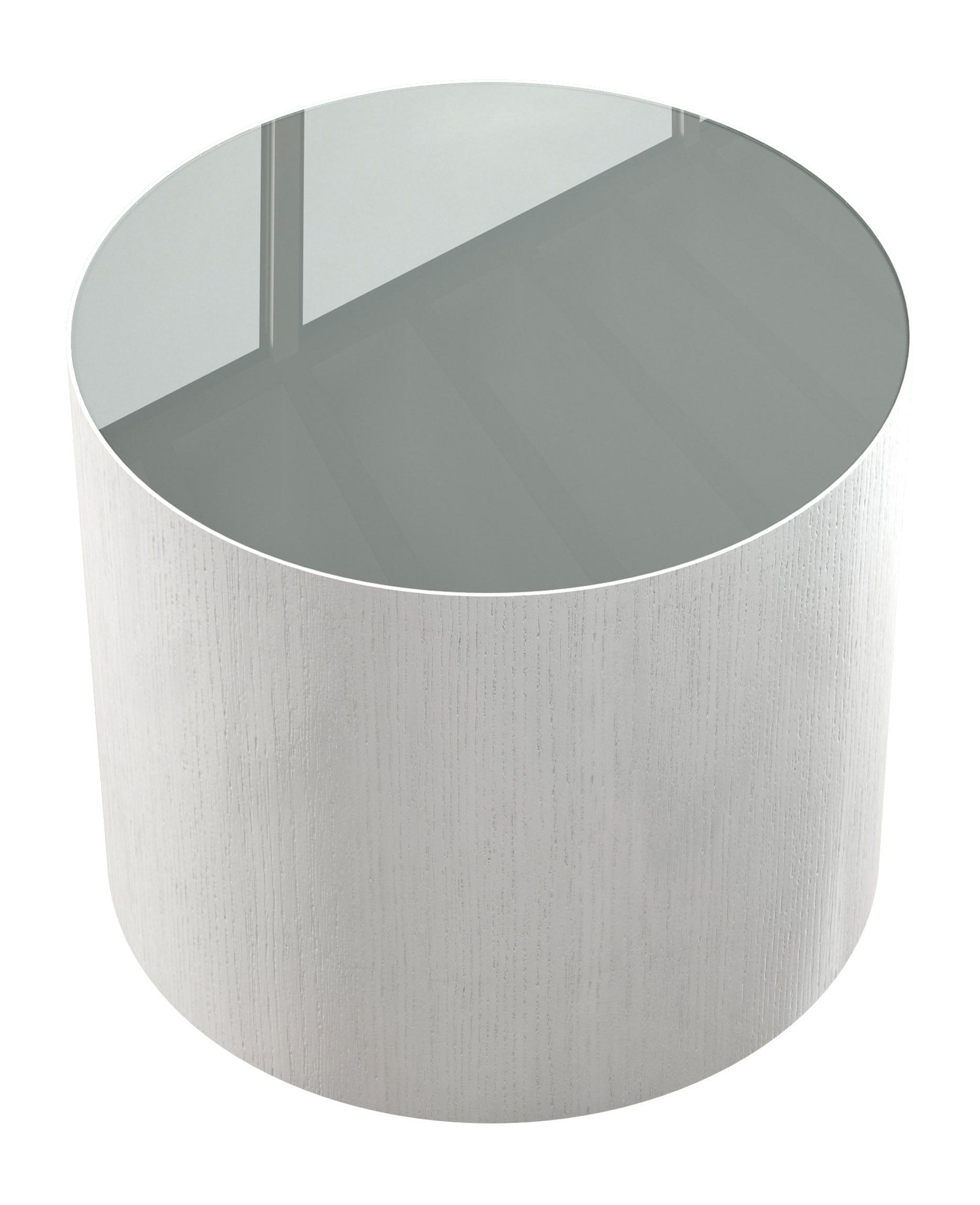 Berkeley Side Table White Glass on White Oak by Modloft