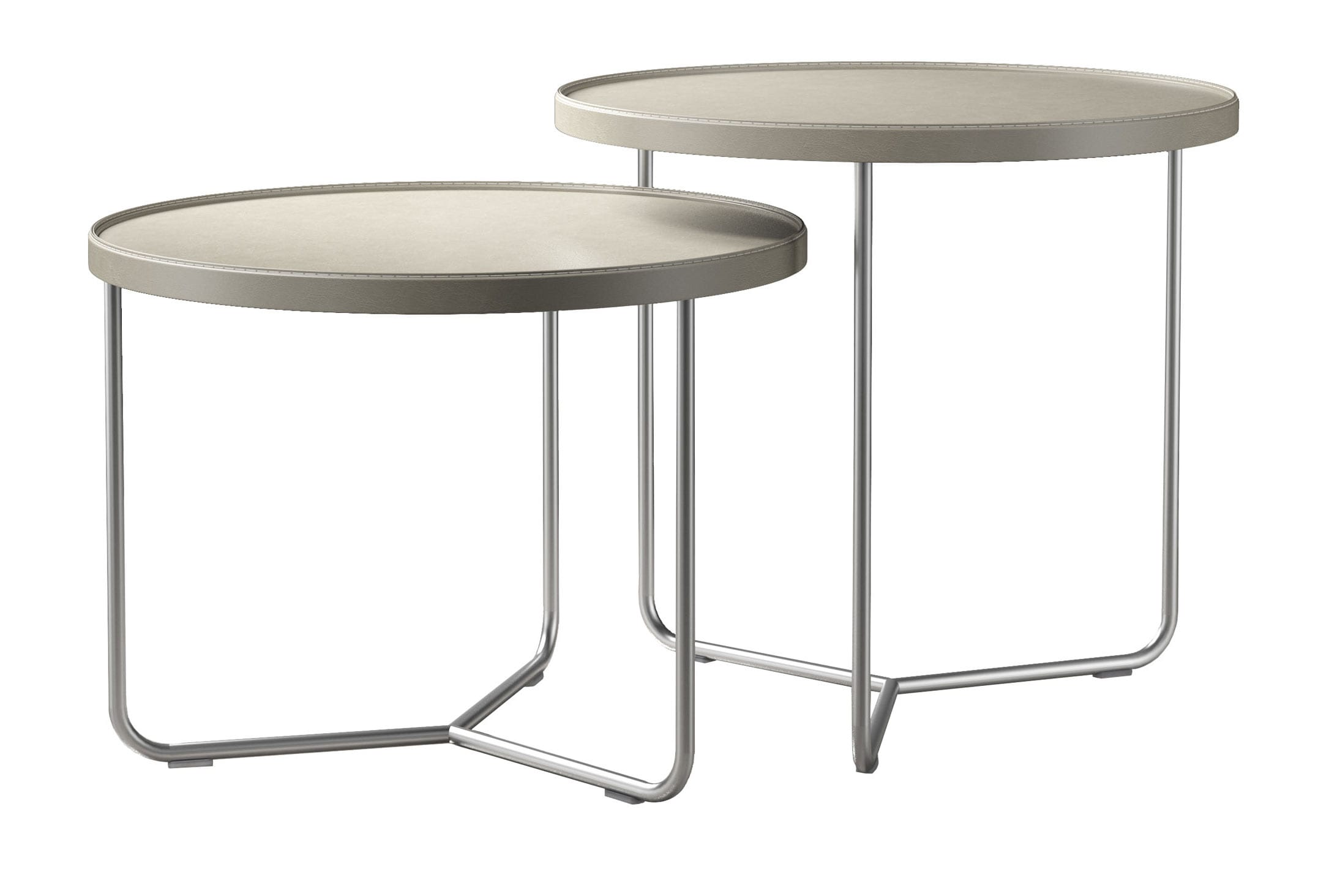 Adelphi Nesting Side Table Set Beige by Modloft