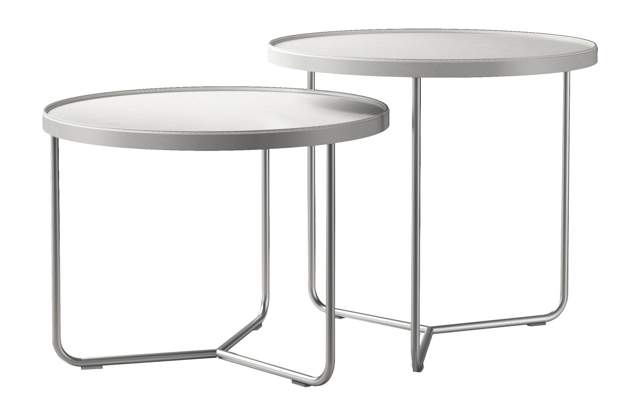 Adelphi Nesting Side Table Set Bright White by Modloft