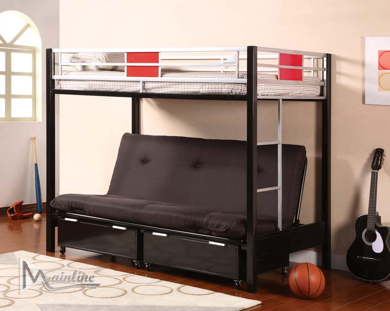 Floor Sample Twin Futon Bunk Bed By Mainline