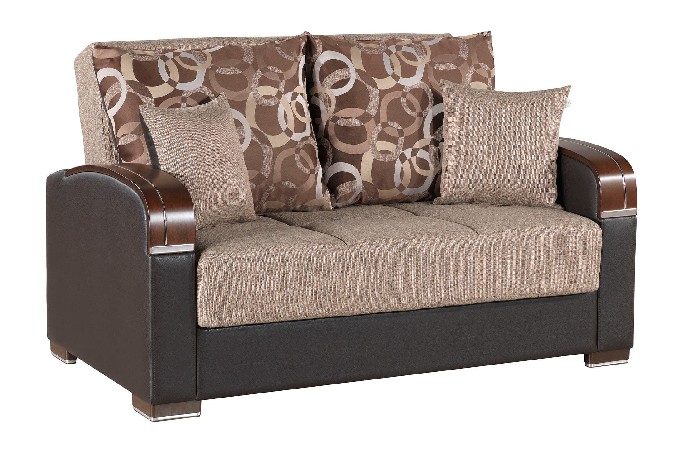 Mobimax Brown Loveseat by Casamode