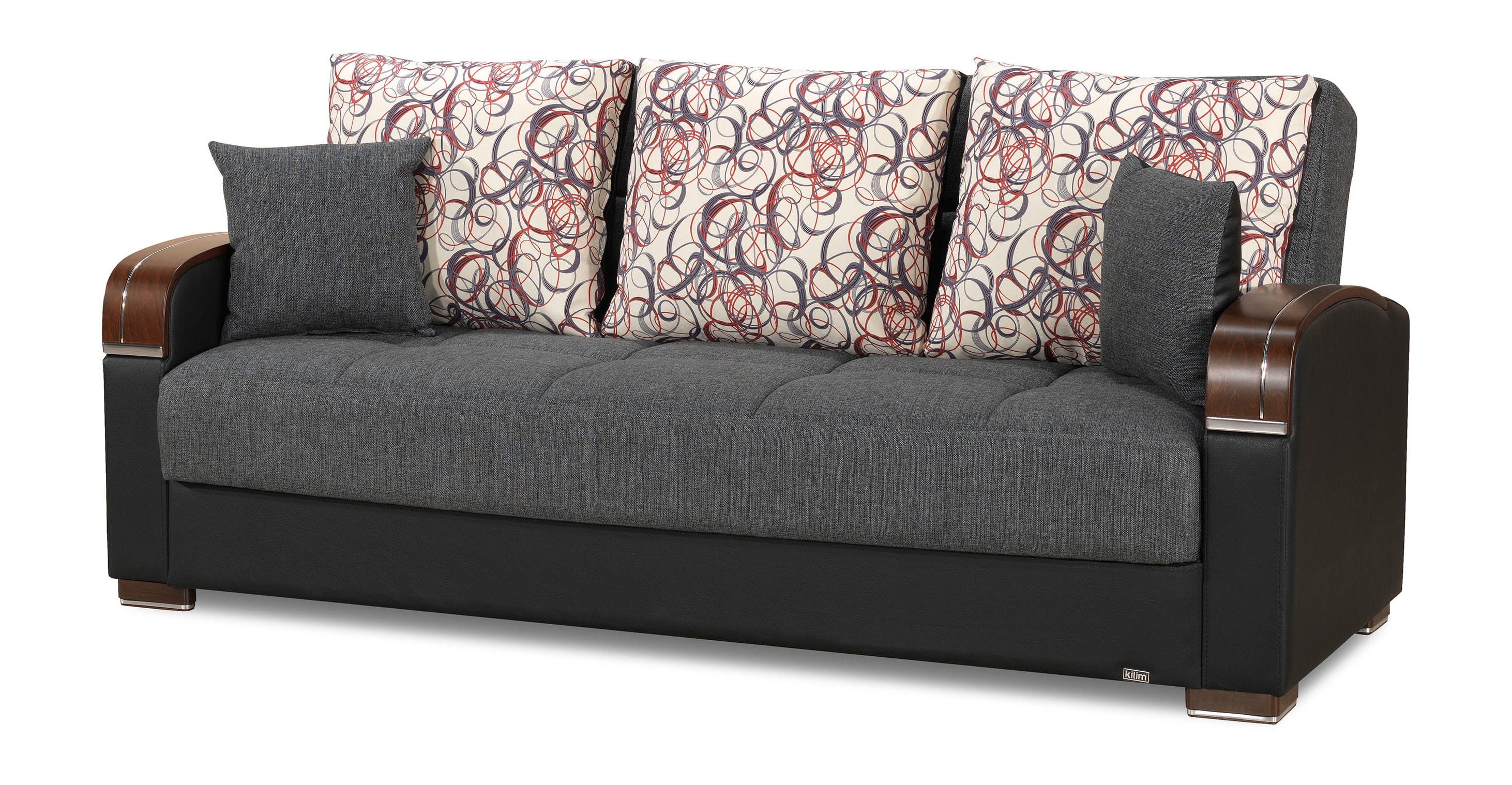 Mobimax grey convertible sofa bed by casamode for Sofas convertibles