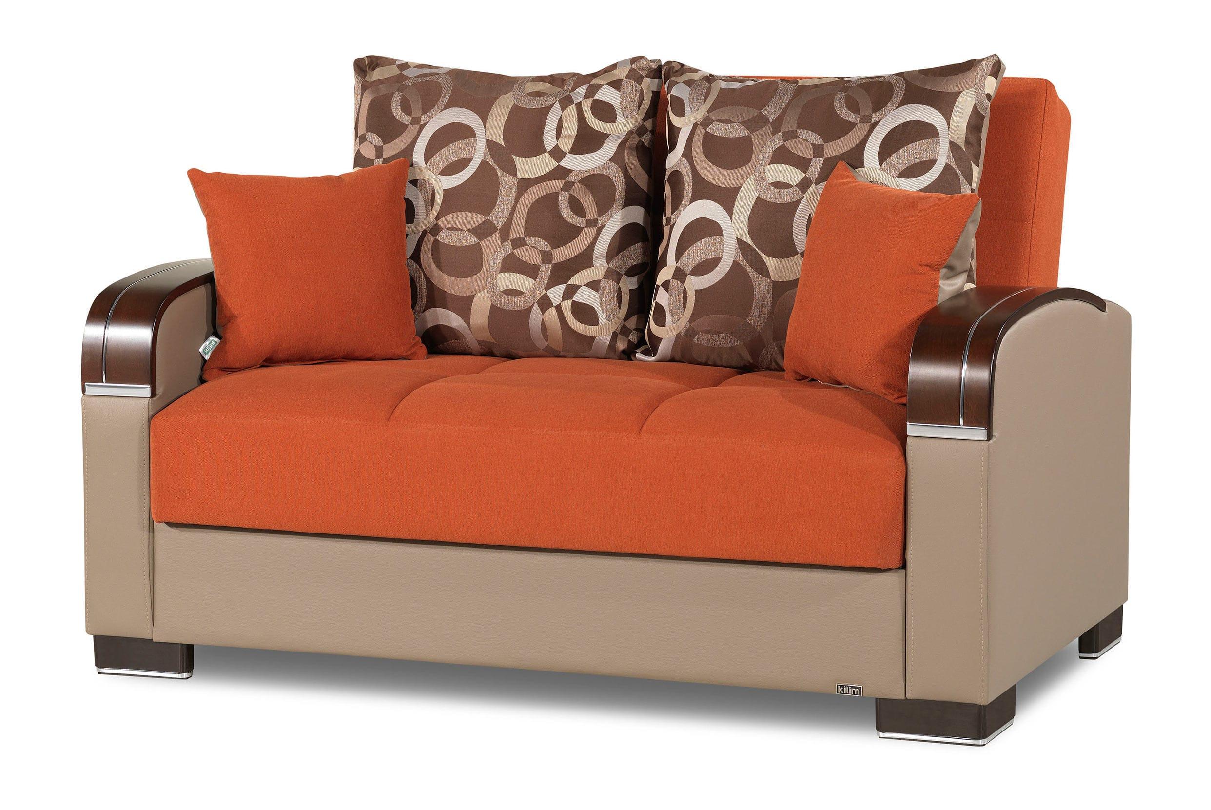 Mobimax Orange Loveseat by Casamode
