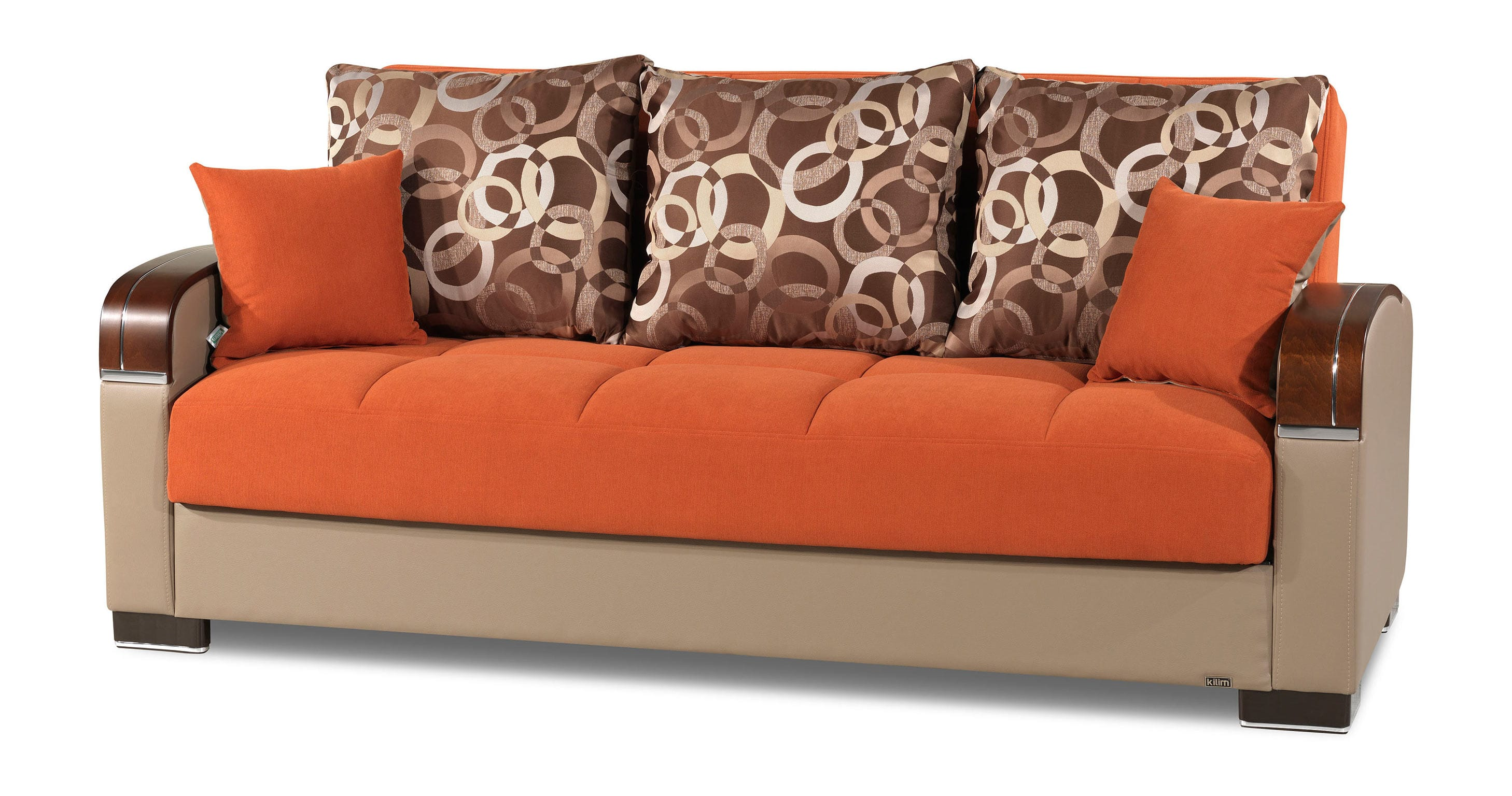 Mobimax orange convertible sofa bed by casamode for Sofa orange