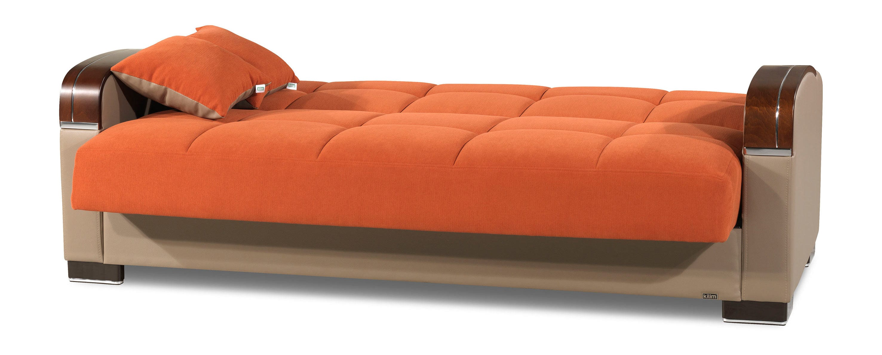 Mobimax Orange Convertible Sofa Bed By Casamode