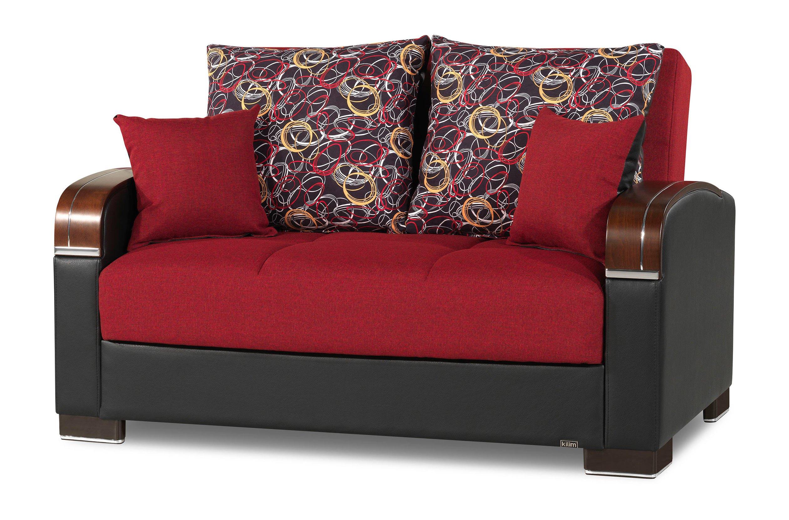 Wondrous Mobimax Red Loveseat By Casamode Inzonedesignstudio Interior Chair Design Inzonedesignstudiocom