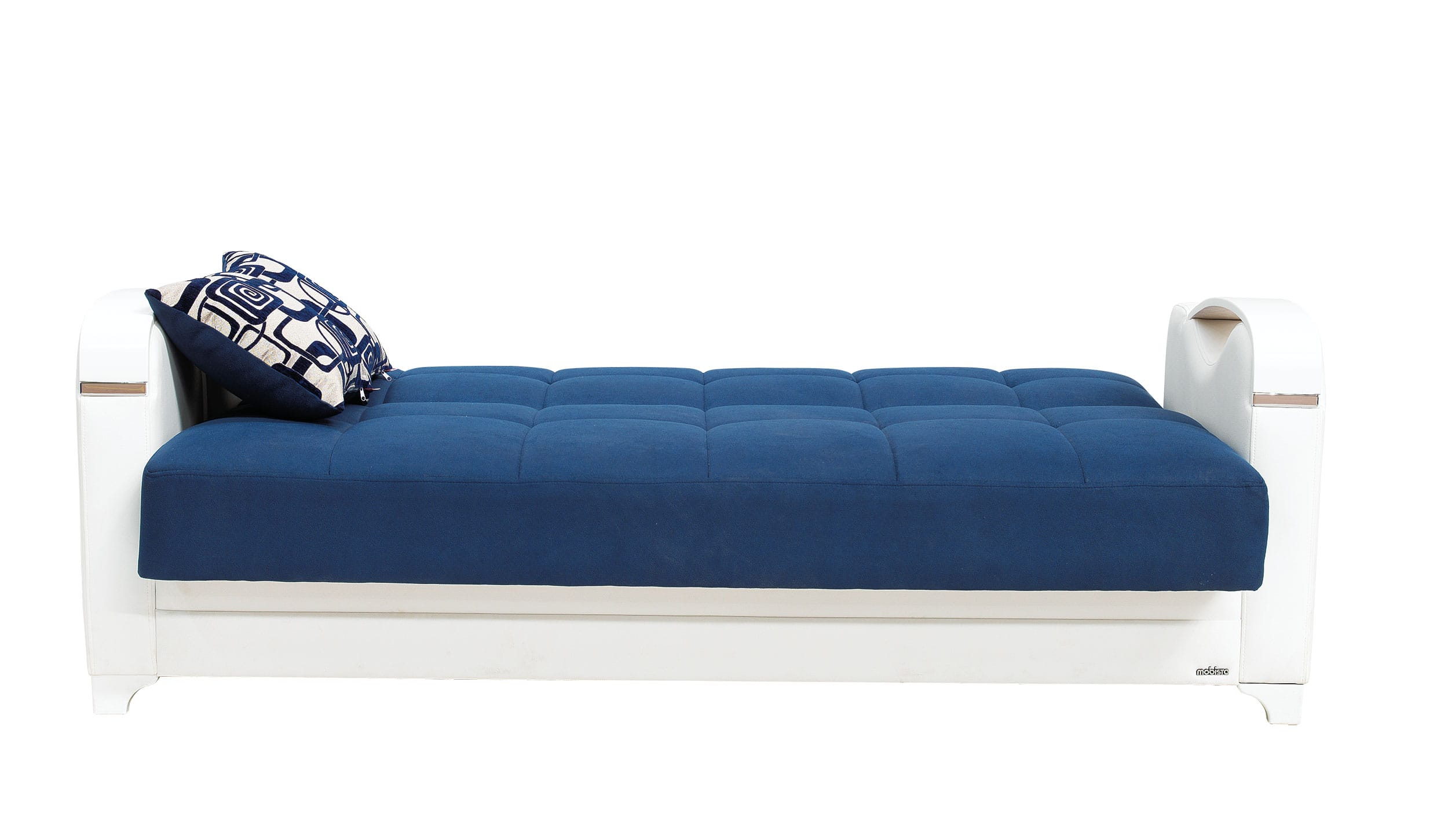 mobetto vintage navy blue fabric sofa bed by mobista. Black Bedroom Furniture Sets. Home Design Ideas
