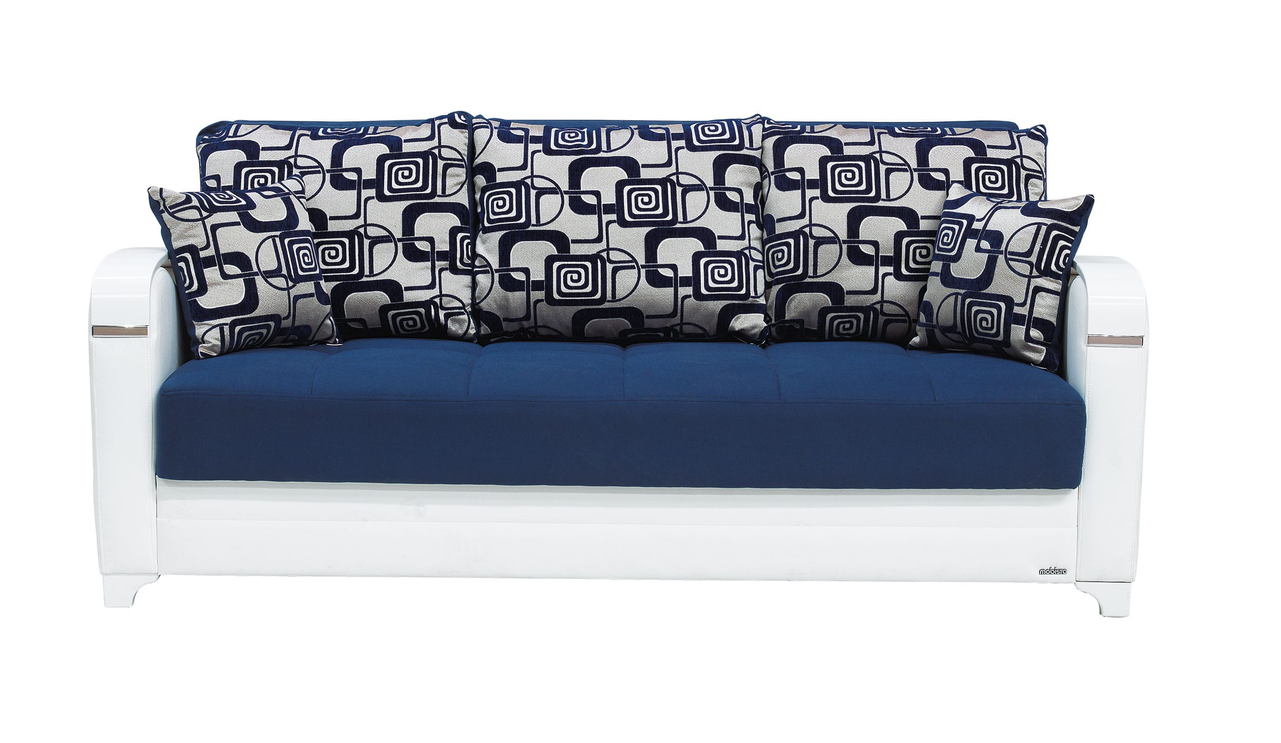 Sensational Mobetto Vintage Navy Blue Fabric Sofa Bed By Mobista Home Interior And Landscaping Dextoversignezvosmurscom