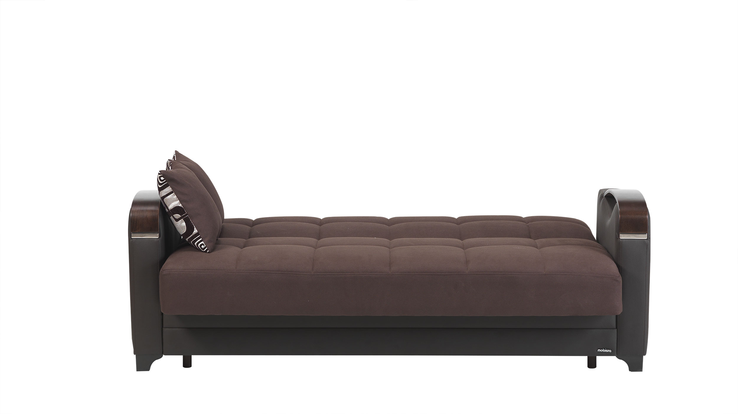 Mobetto Vintage Chocolate Fabric Sofa Bed By Mobista