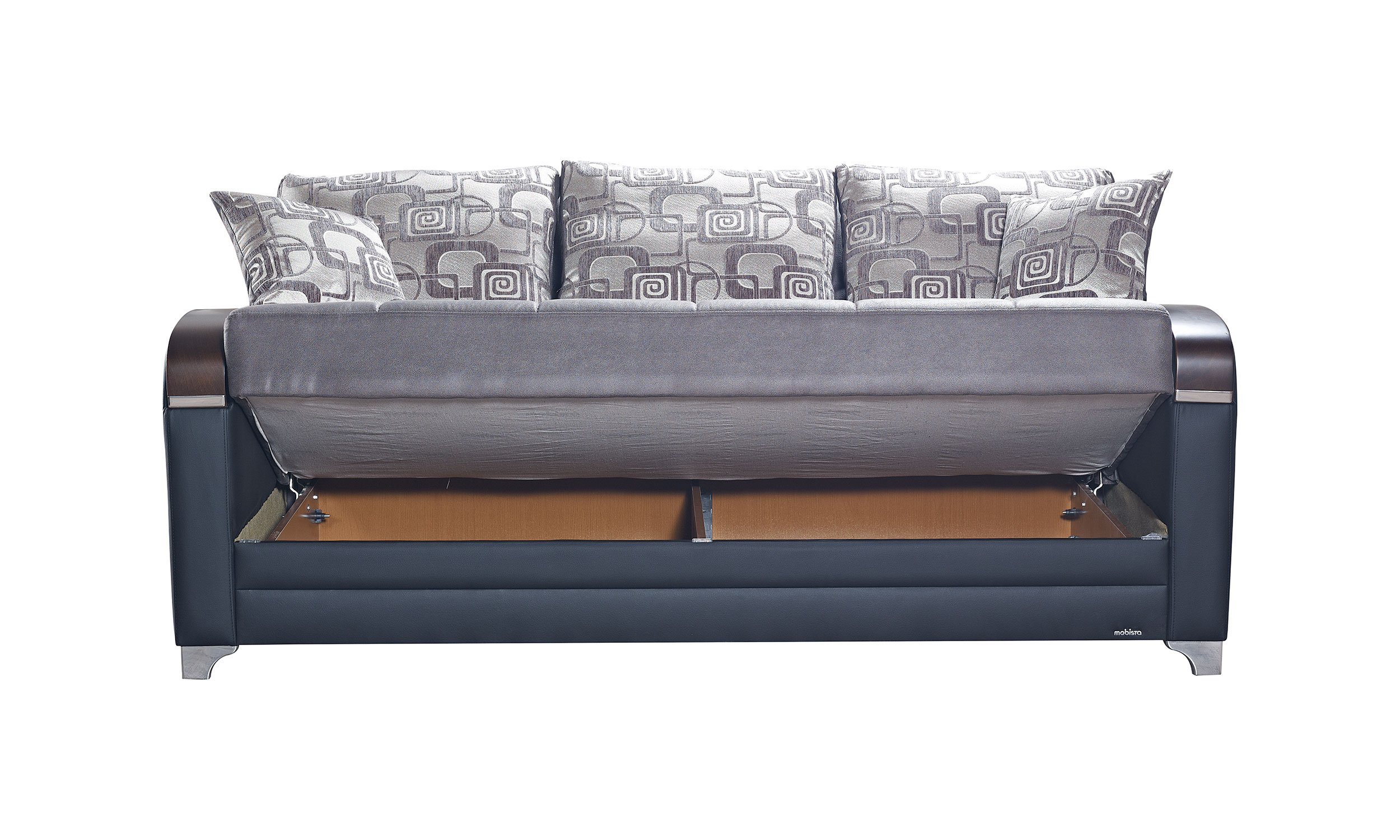 Mobetto Vintage Gray Fabric Sofa Bed