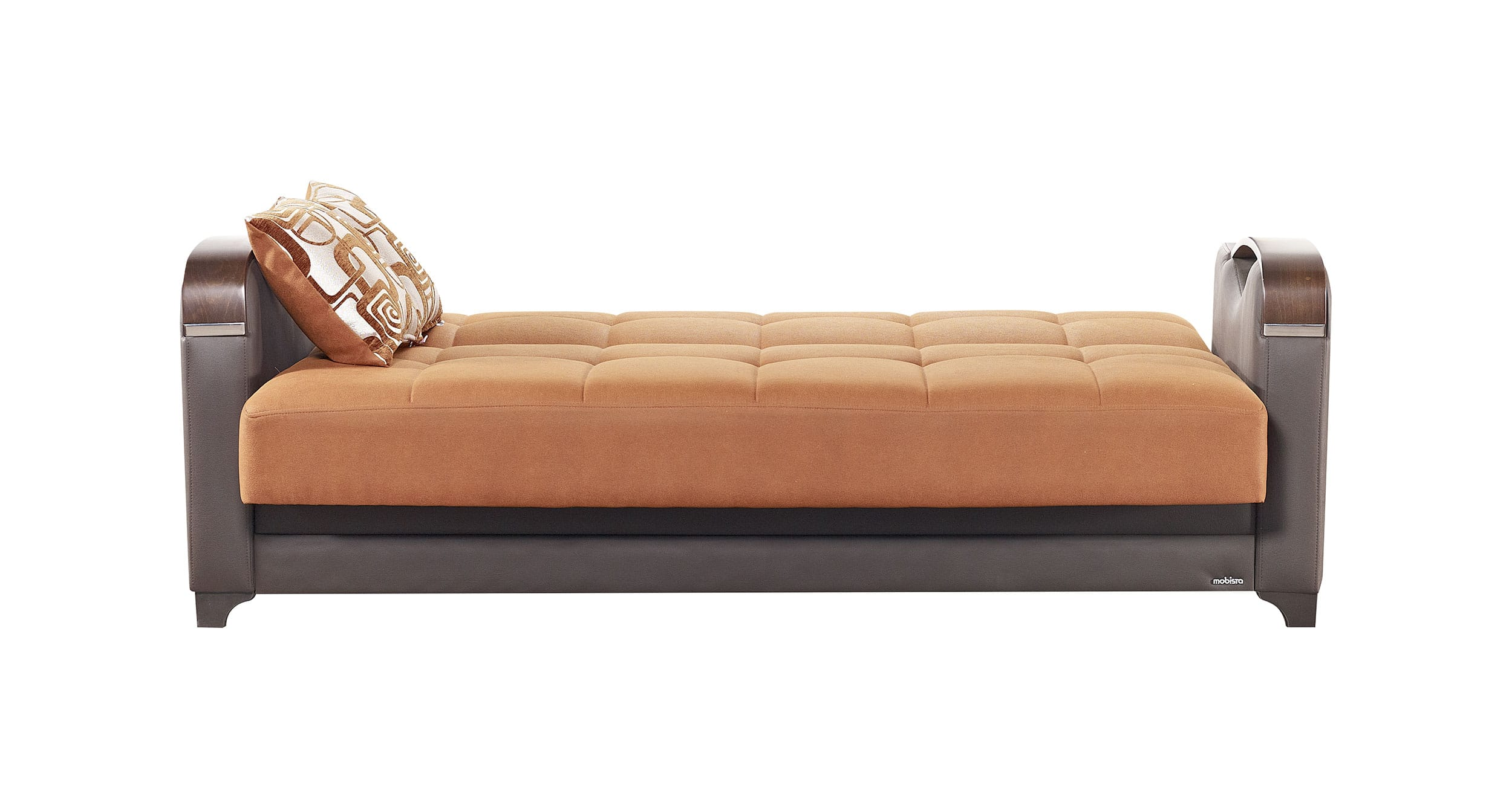 Mobetto Vintage Terra Cotta Fabric Sofa Bed By Mobista