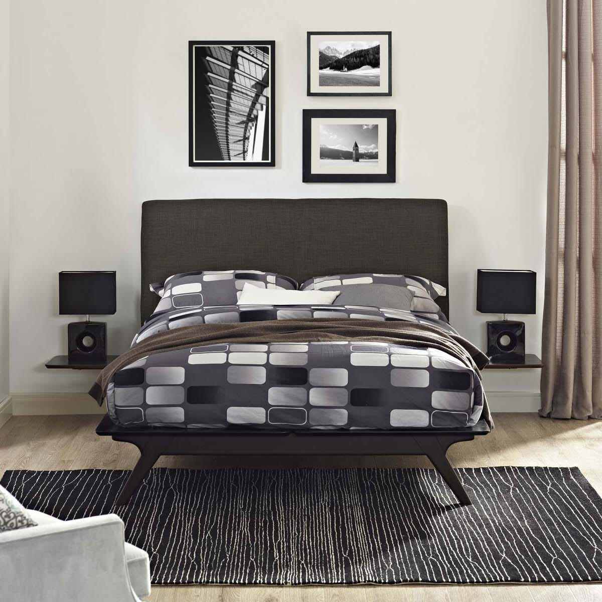 Tracy 3 Piece Queen Bedroom Set Cappuccino Brown by Modern Living