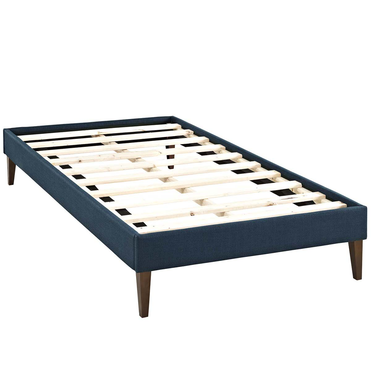 Sharon Twin Fabric Bed Frame with Squared Tapered Legs Azure by Modway