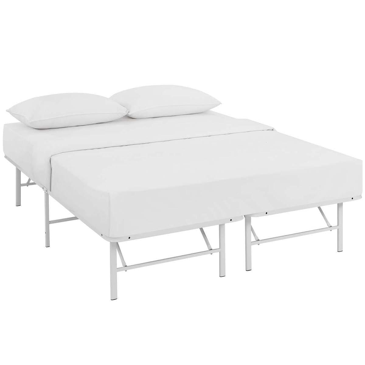 Horizon Full Stainless Steel Bed Frame White By Modern Living