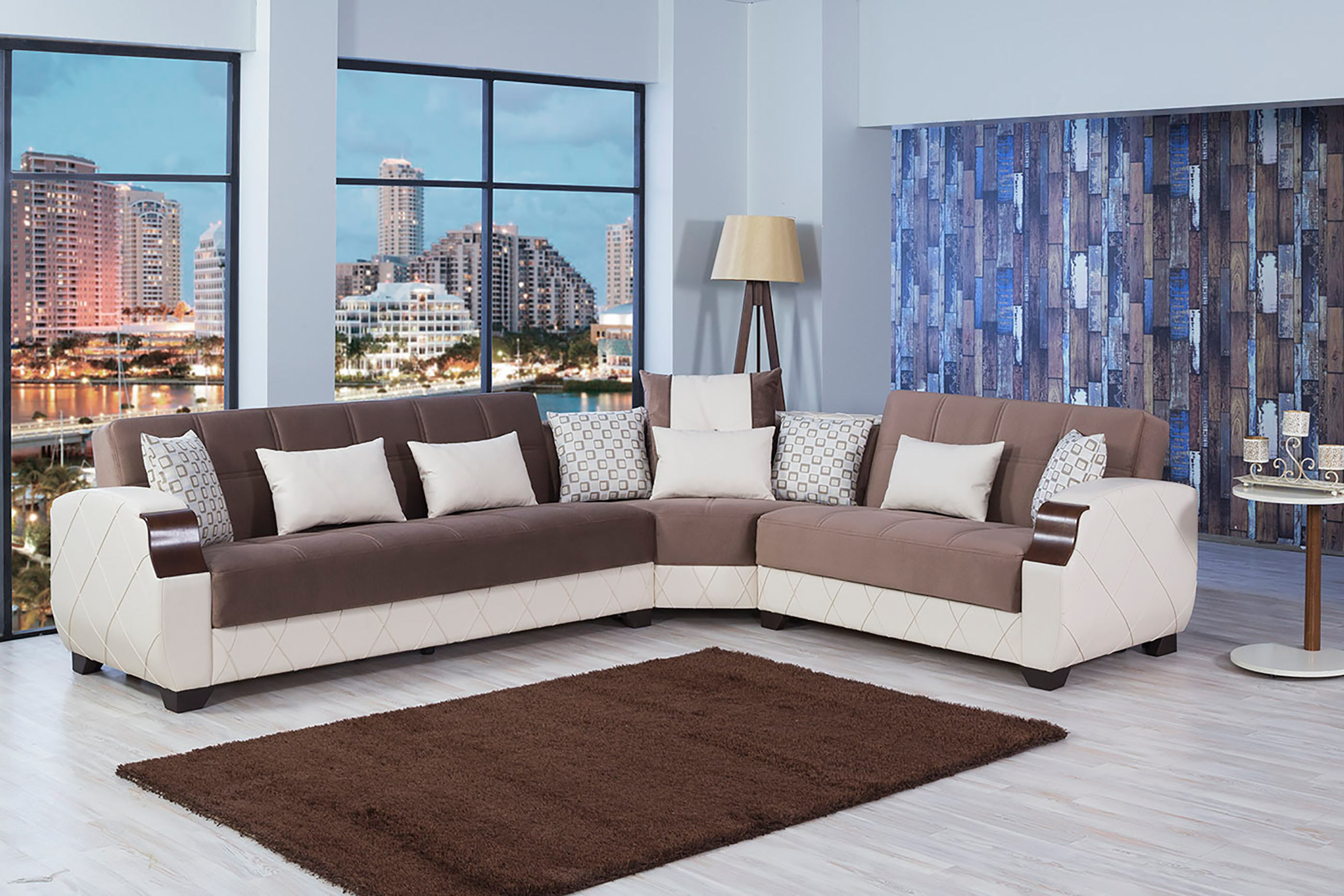 molina lyon brown sectional sofa by casamode brown sectional