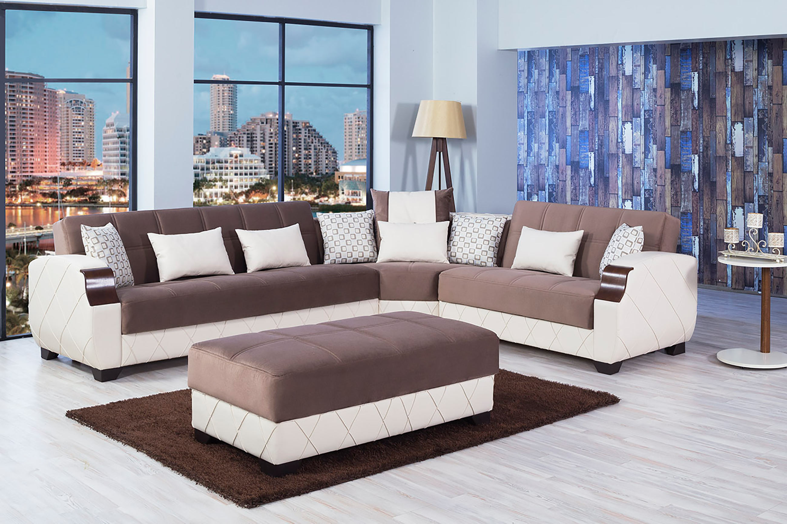 Molina Lyon Brown Sectional Sofa by Casamode