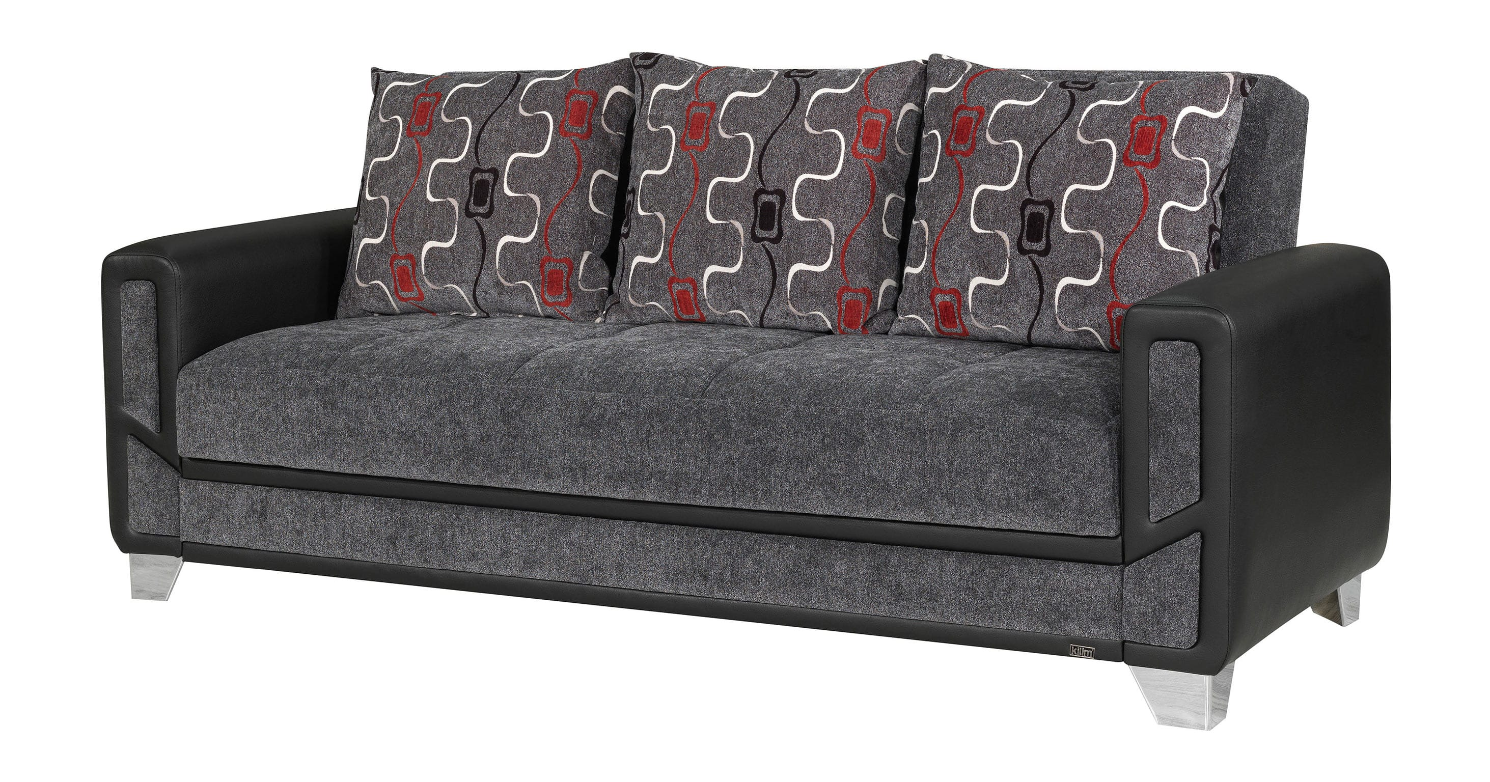 Mondo Modern Gray Convertible Sofa Bed by Casamode