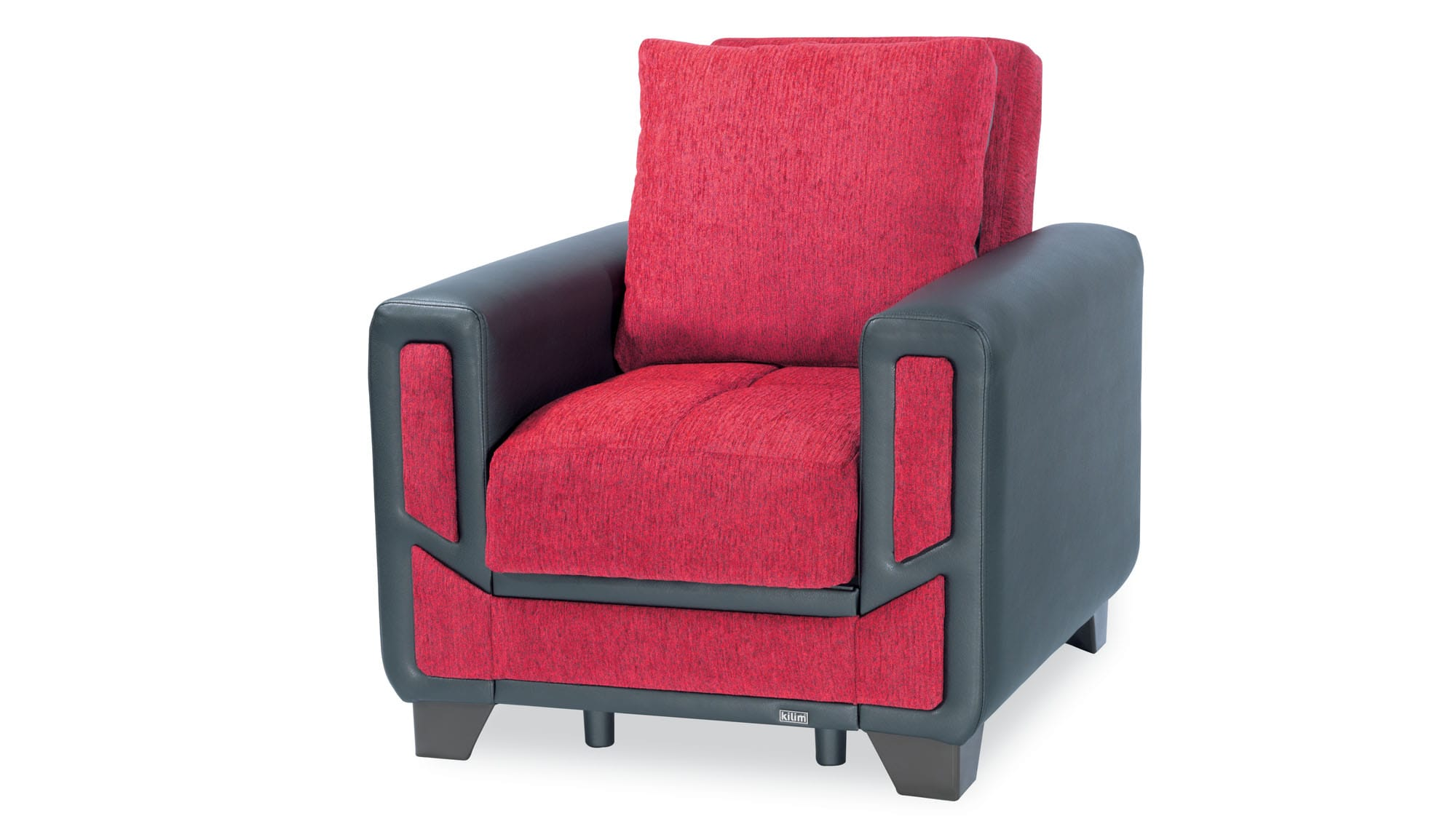 Surprising Mondo Modern Red Convertible Chair By Casamode Short Links Chair Design For Home Short Linksinfo