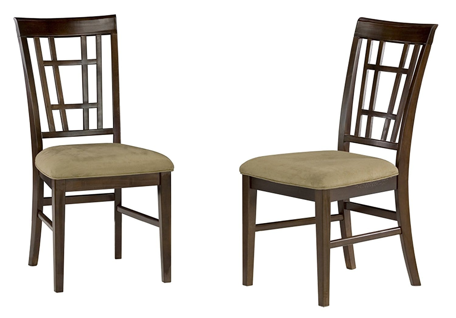 Montego Bay Dining Chairs Antique Walnut W/Cappuccino Cushion Seat By  Atlantic Furniture