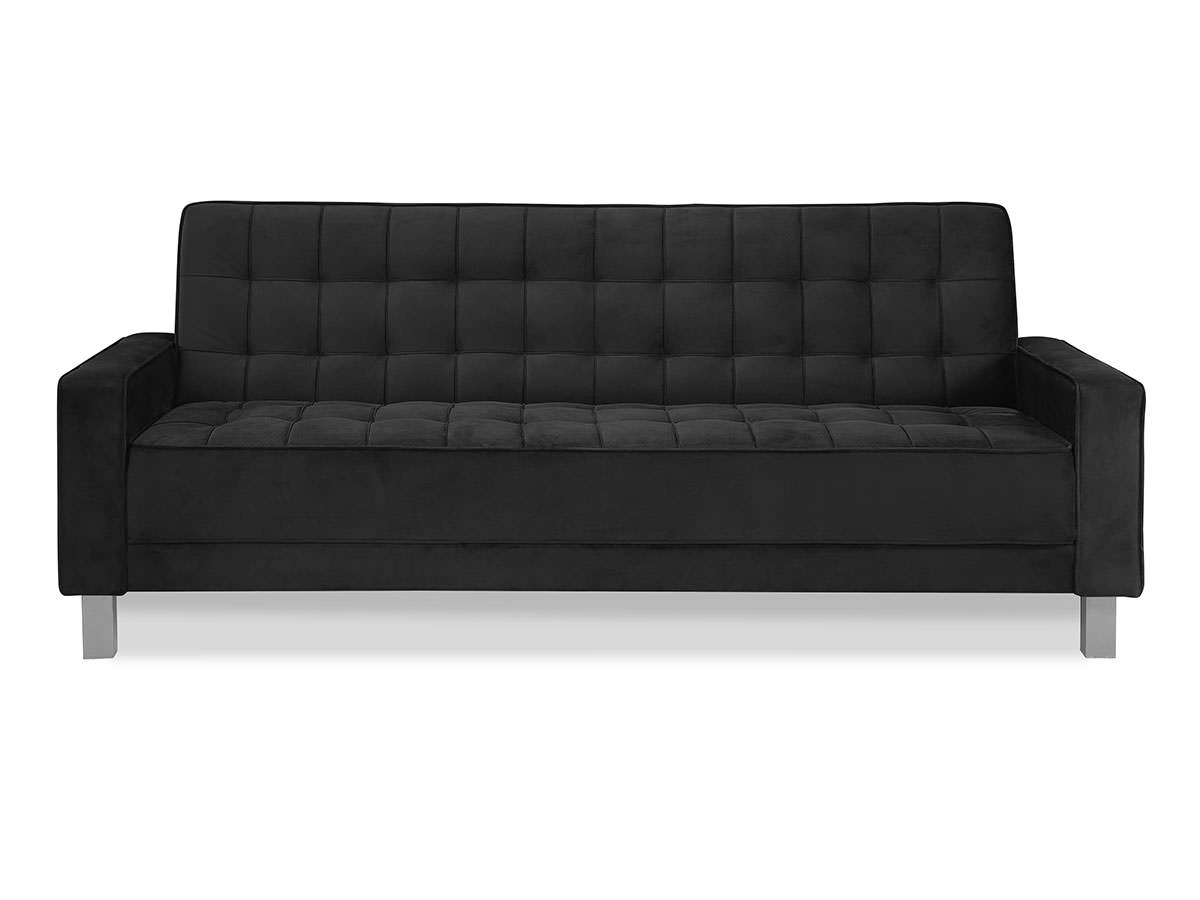 Montrose Convertible Sofa Black By Serta Lifestyle
