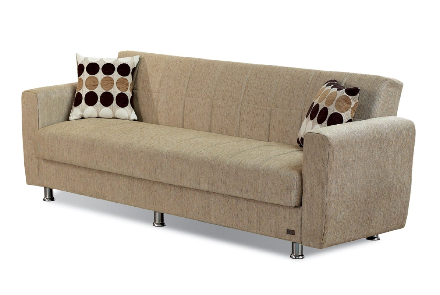 Astoria Light Brown Fabric Sofa Bed By