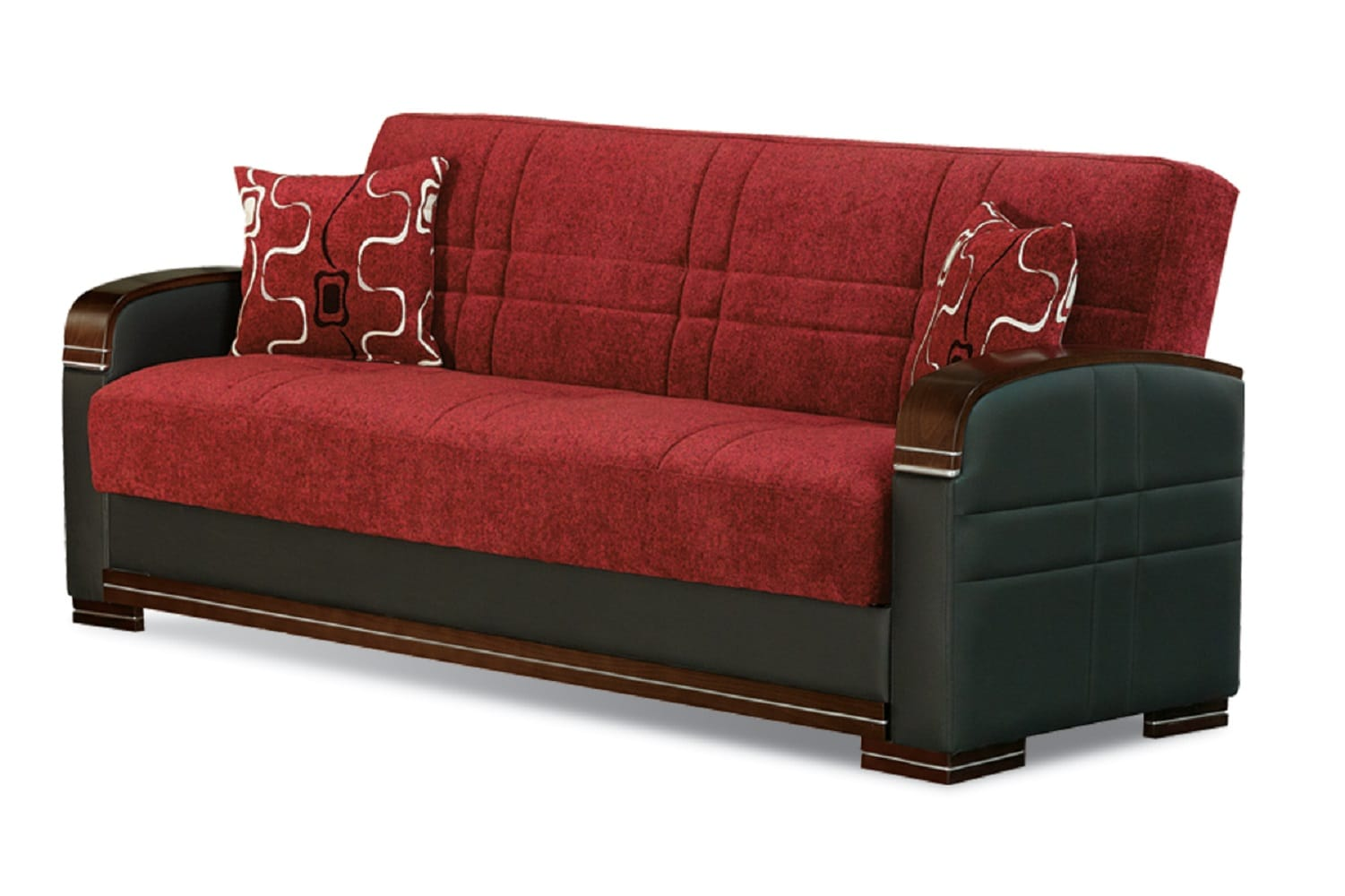 Indiana Red Fabric Sofa Bed By Empire Furniture Usa