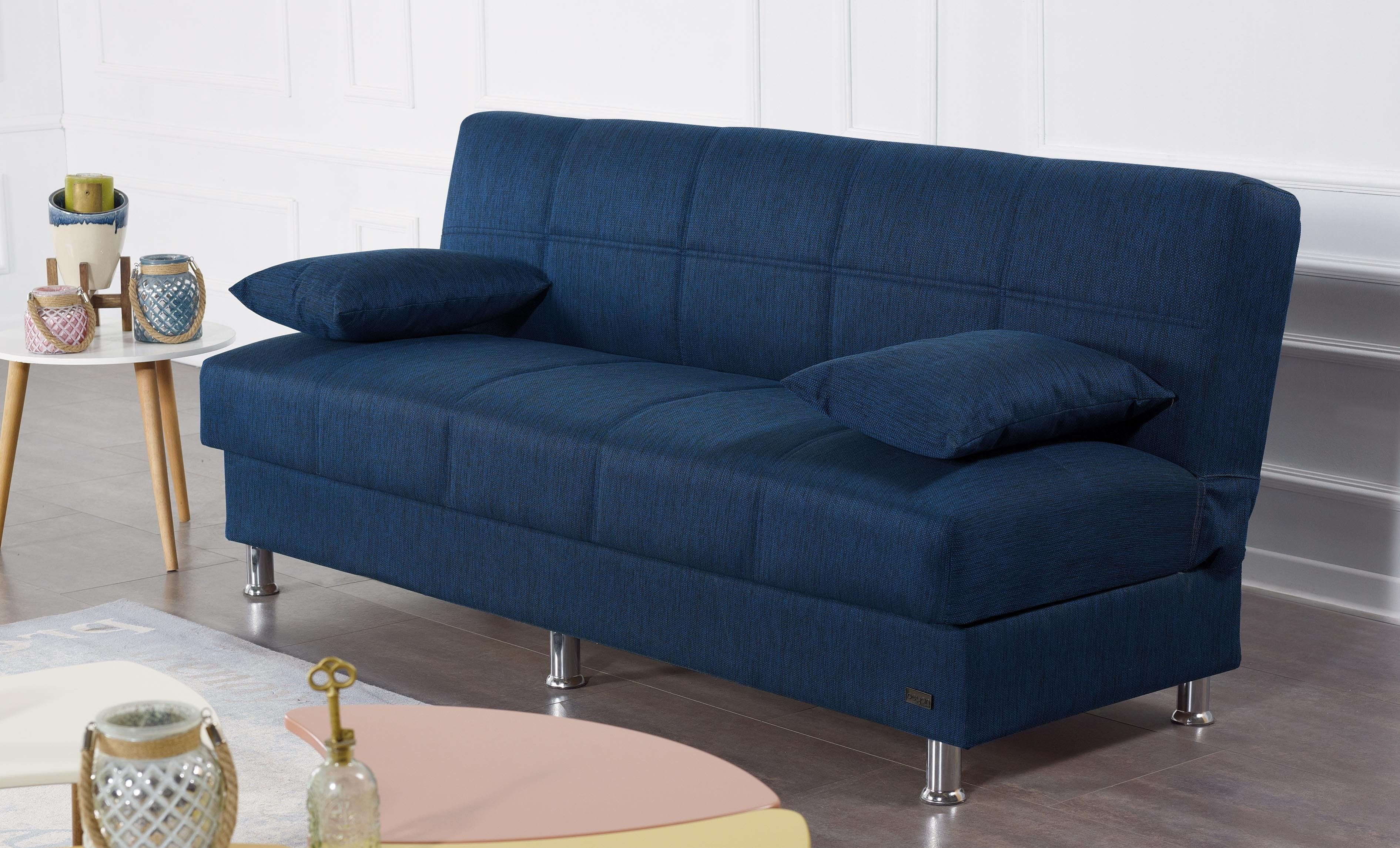 London Blue Fabric Sofa Bed by Empire Furniture USA
