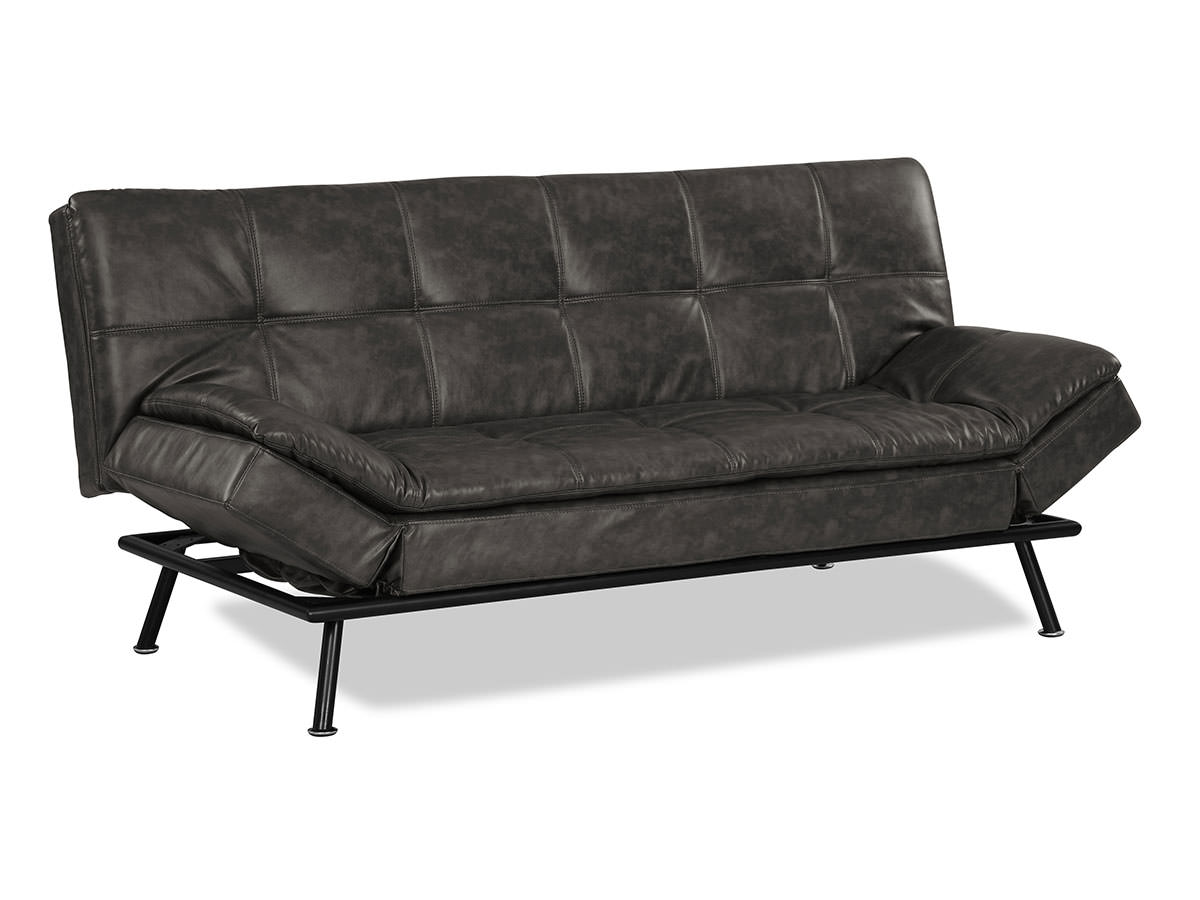 Myst Convertible Sofa Charcoal Burl By Serta Lifestyle
