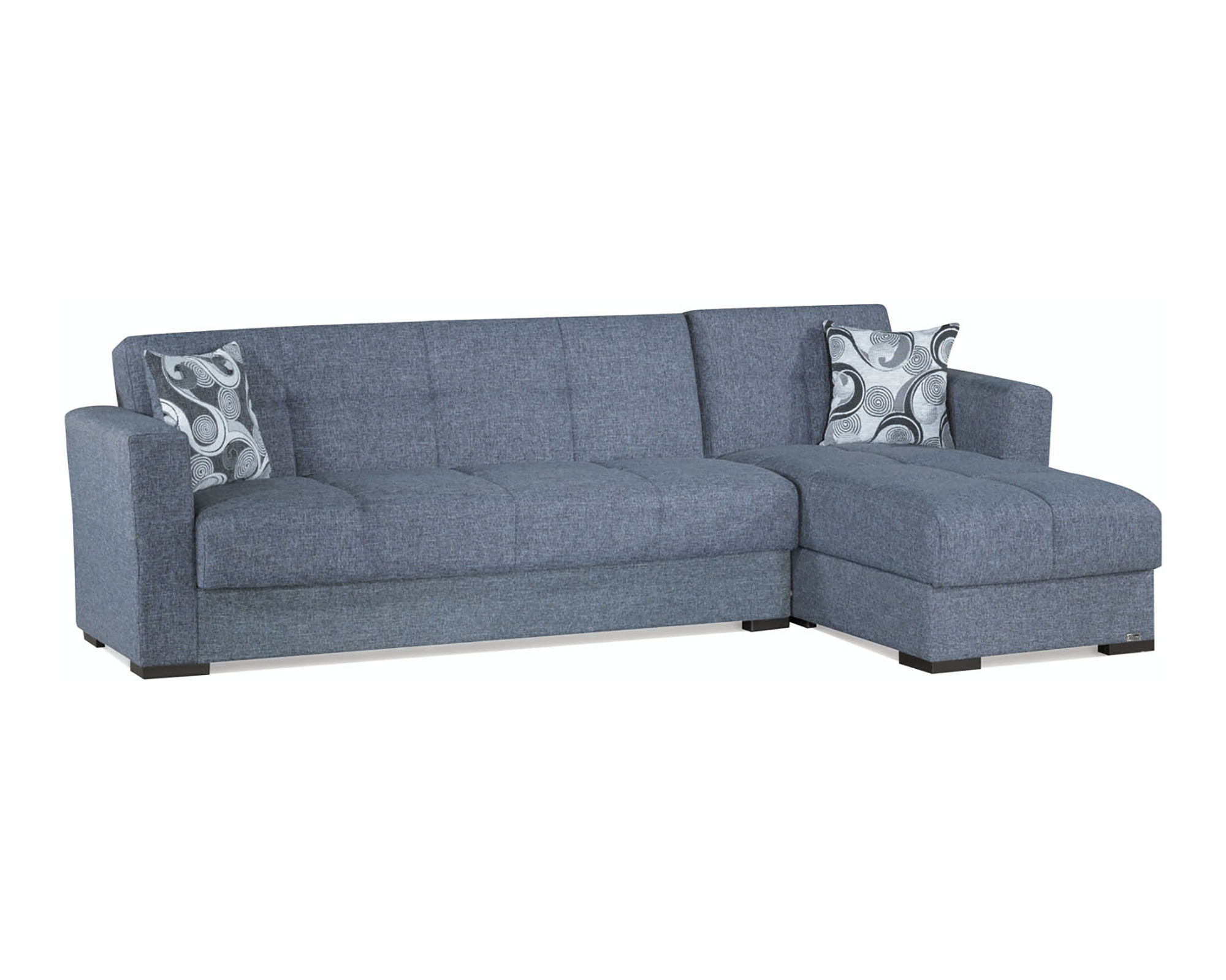 Mystic Gray Convertible Sectional by Casamode