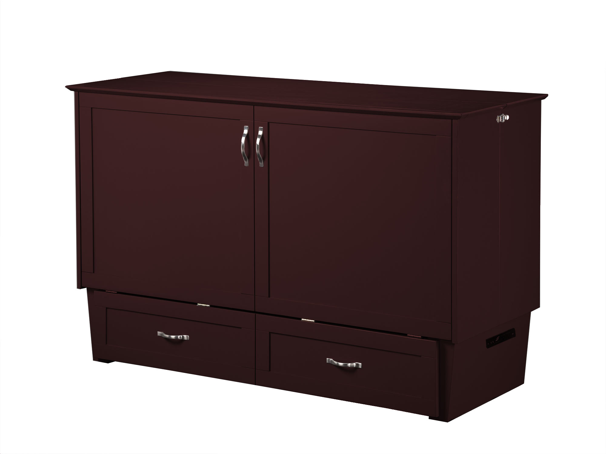Madison Murphy Bed Chest Bed Espresso By Atlantic