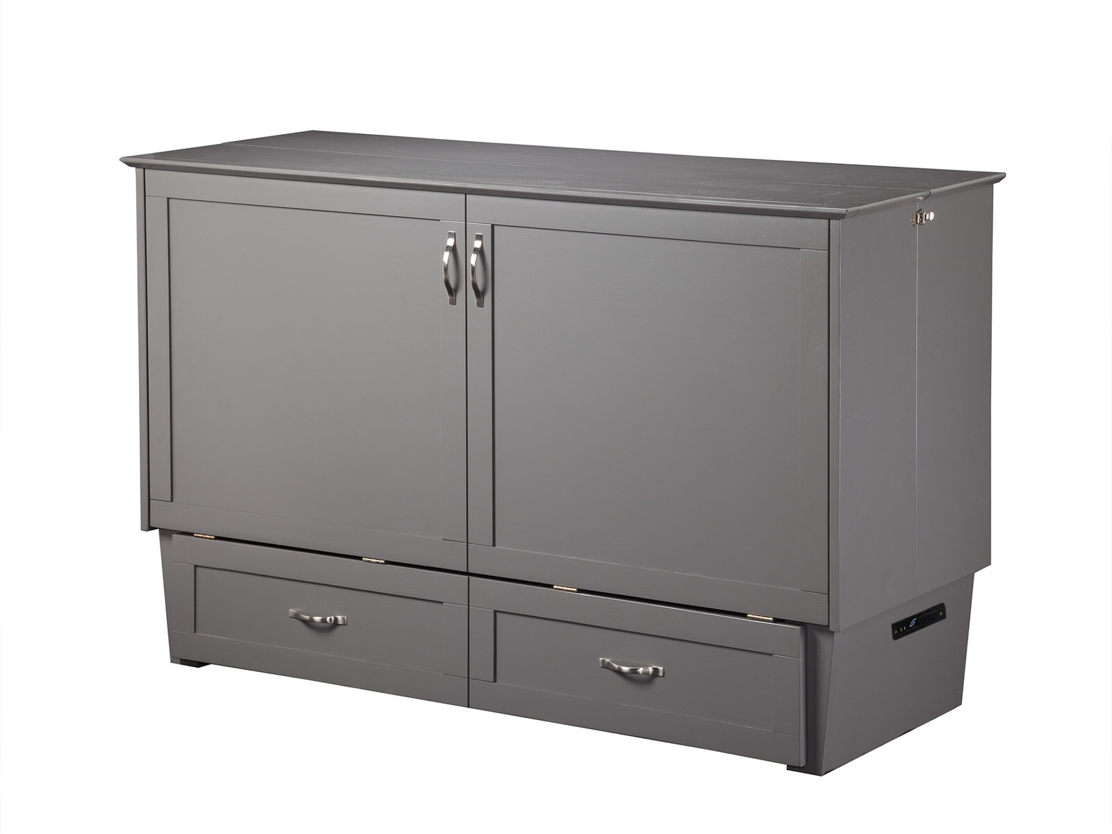 Madison Murphy Bed Chest Bed Gray By Atlantic